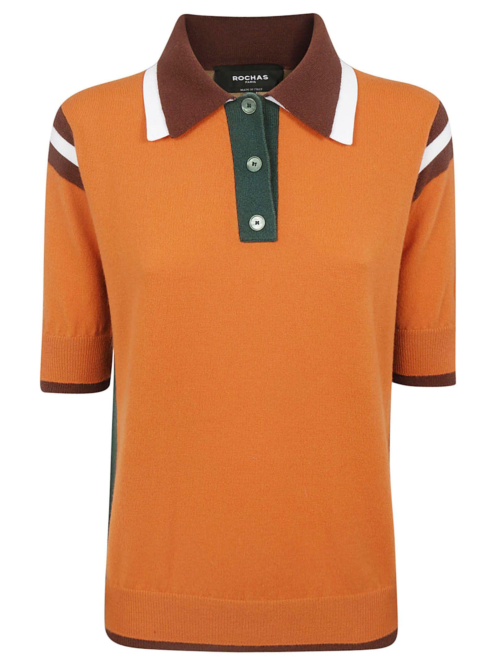 In OrangeModesens Contrasted Polo Shirt Rochas 34ARqc5jL