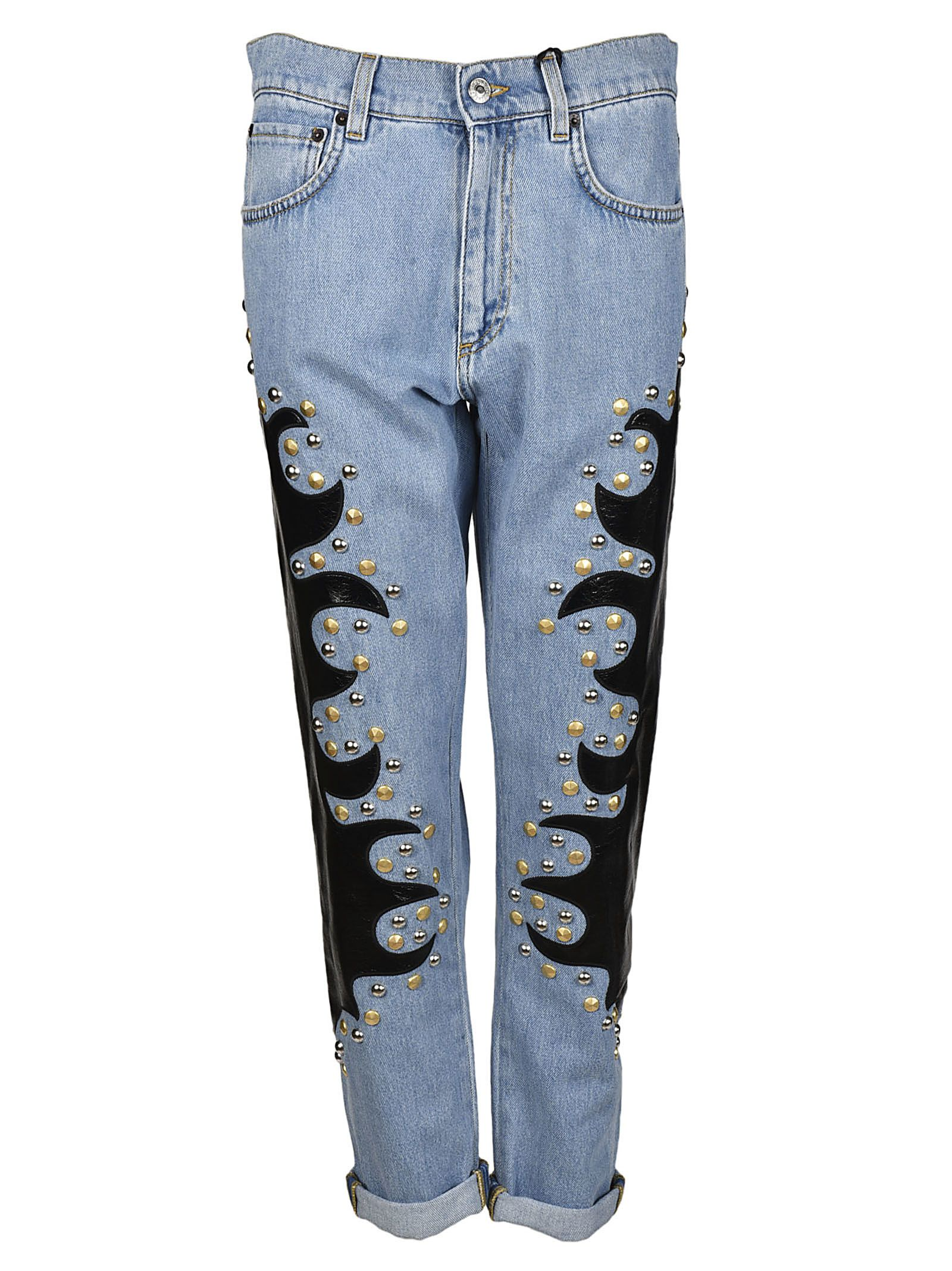Moschino Flame Embellished Jeans 10506319