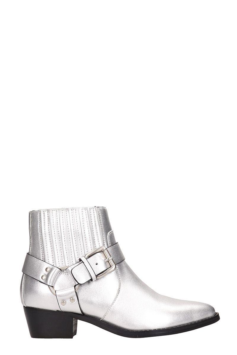 Bibi Lou Silver Leather Boots Modesens