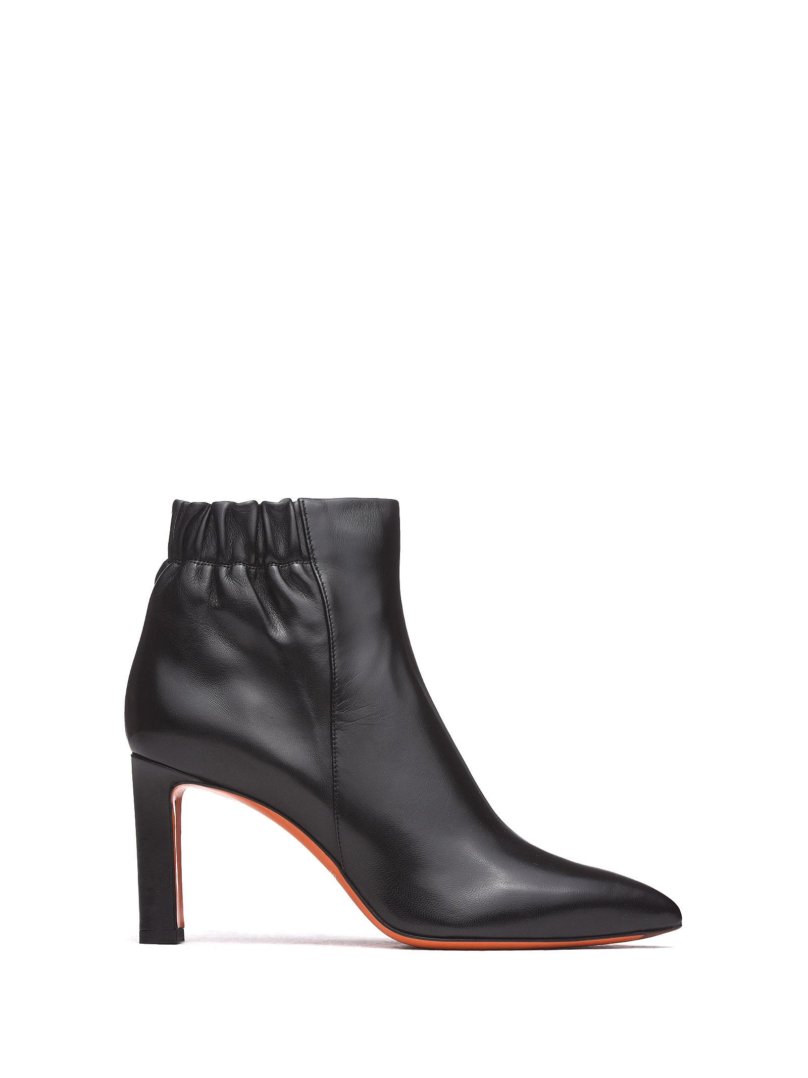 Soft Nappa Black Ankle Boots