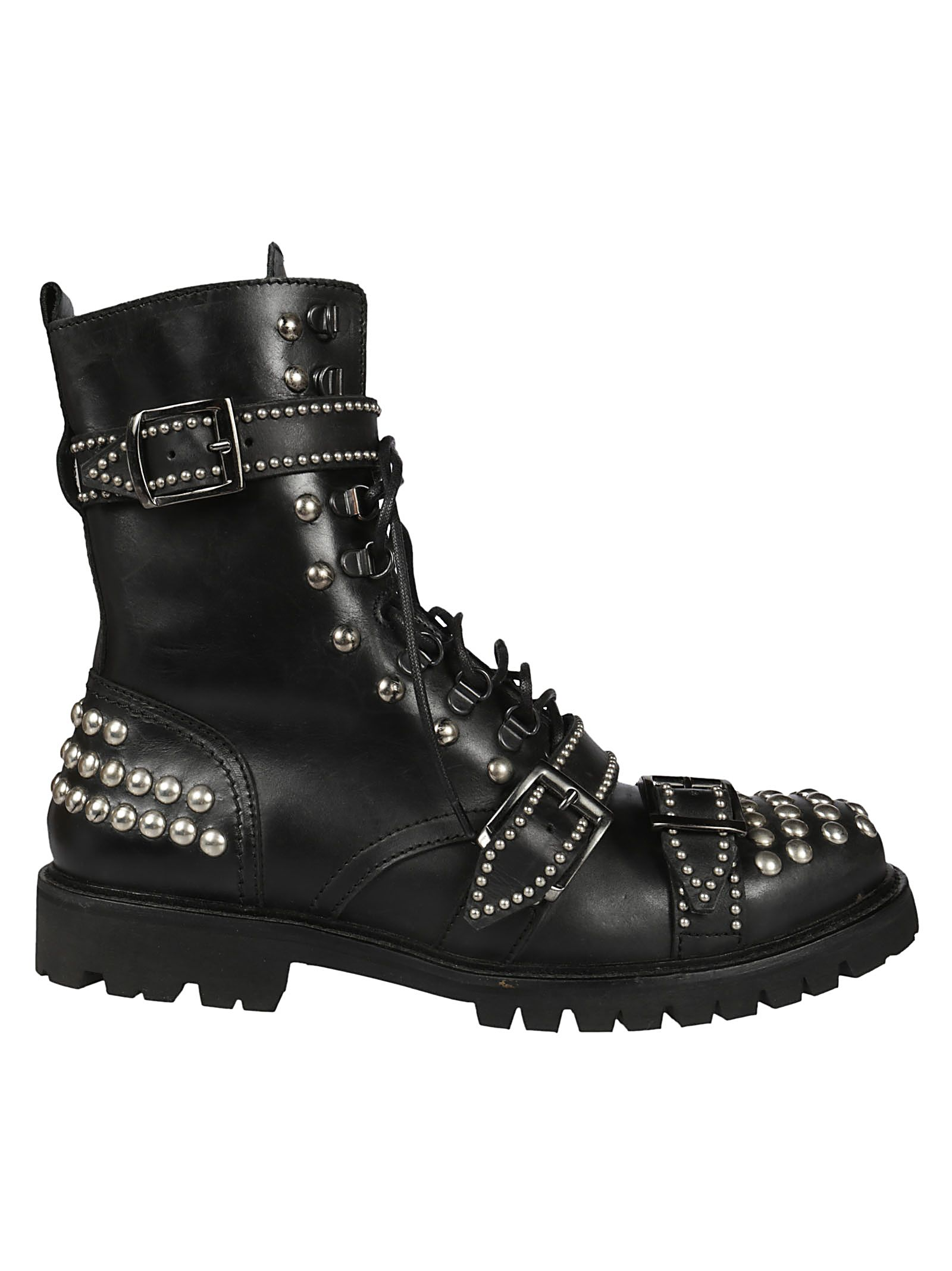 Christian Pellizzari Studded Ankle Boots