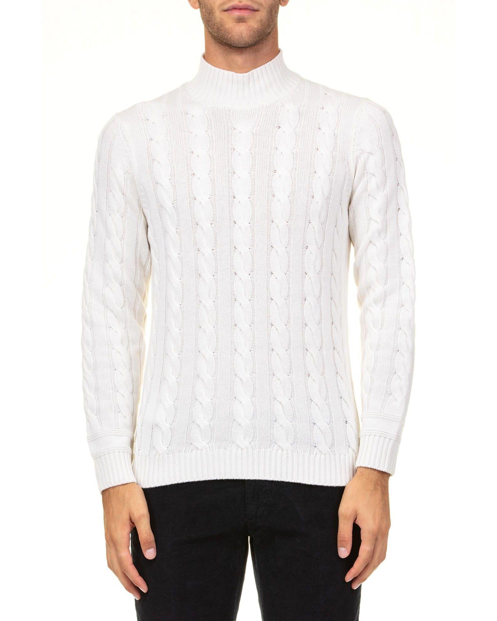 KANGRA Woll Blend Turtleneck Sweater in White