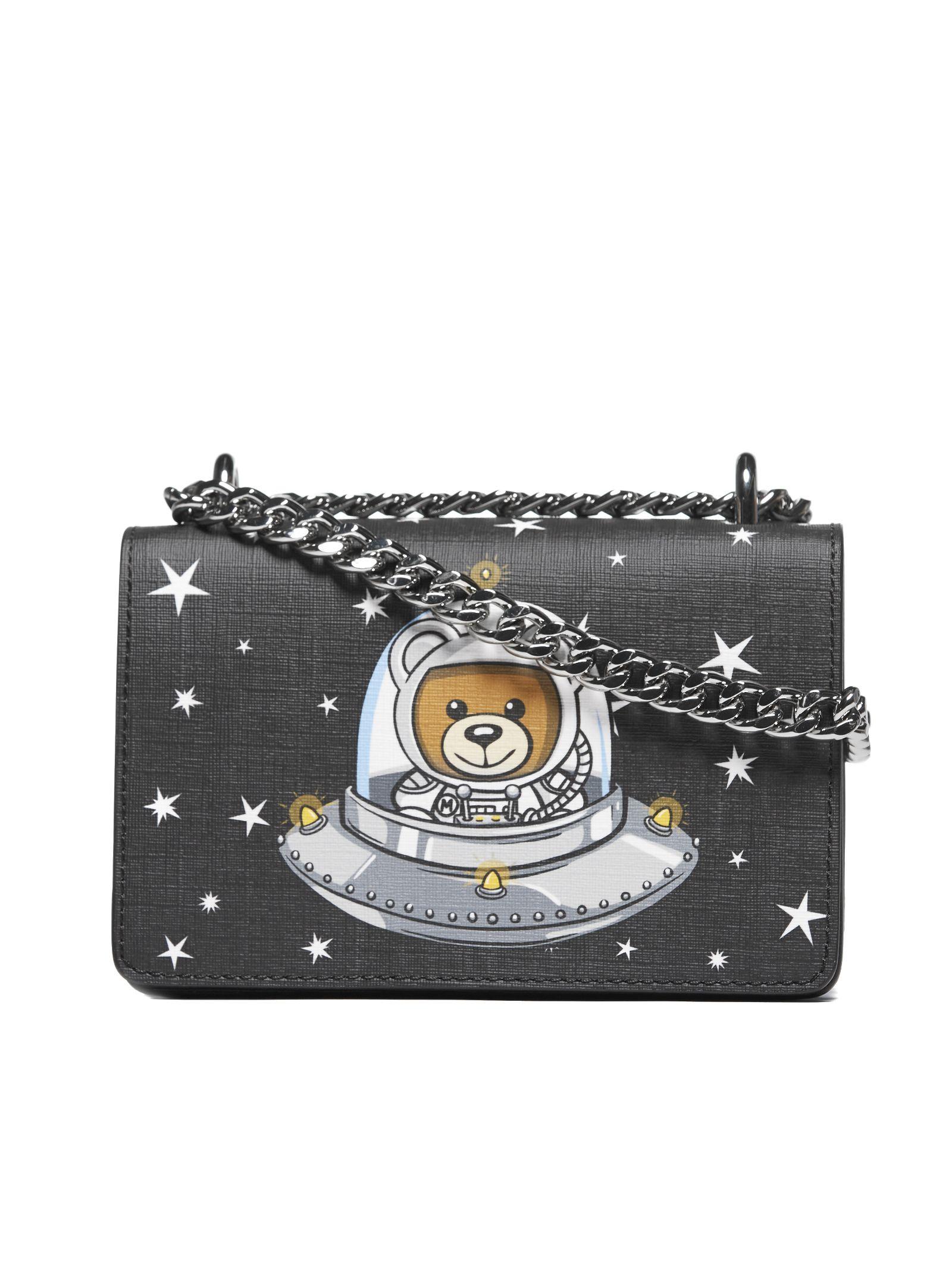 Astro Teddy Shoulder Bag, Nero Multicolor