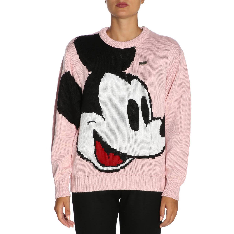 Gcds Gcds X Disney Mickey Mouse Knit Sweater - Pink