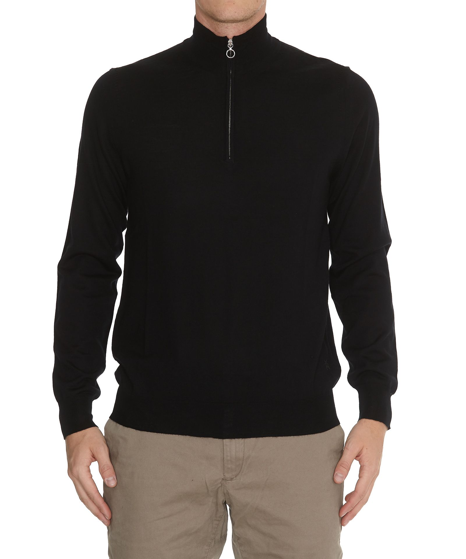 HŌSIO Zip Sweater in Black