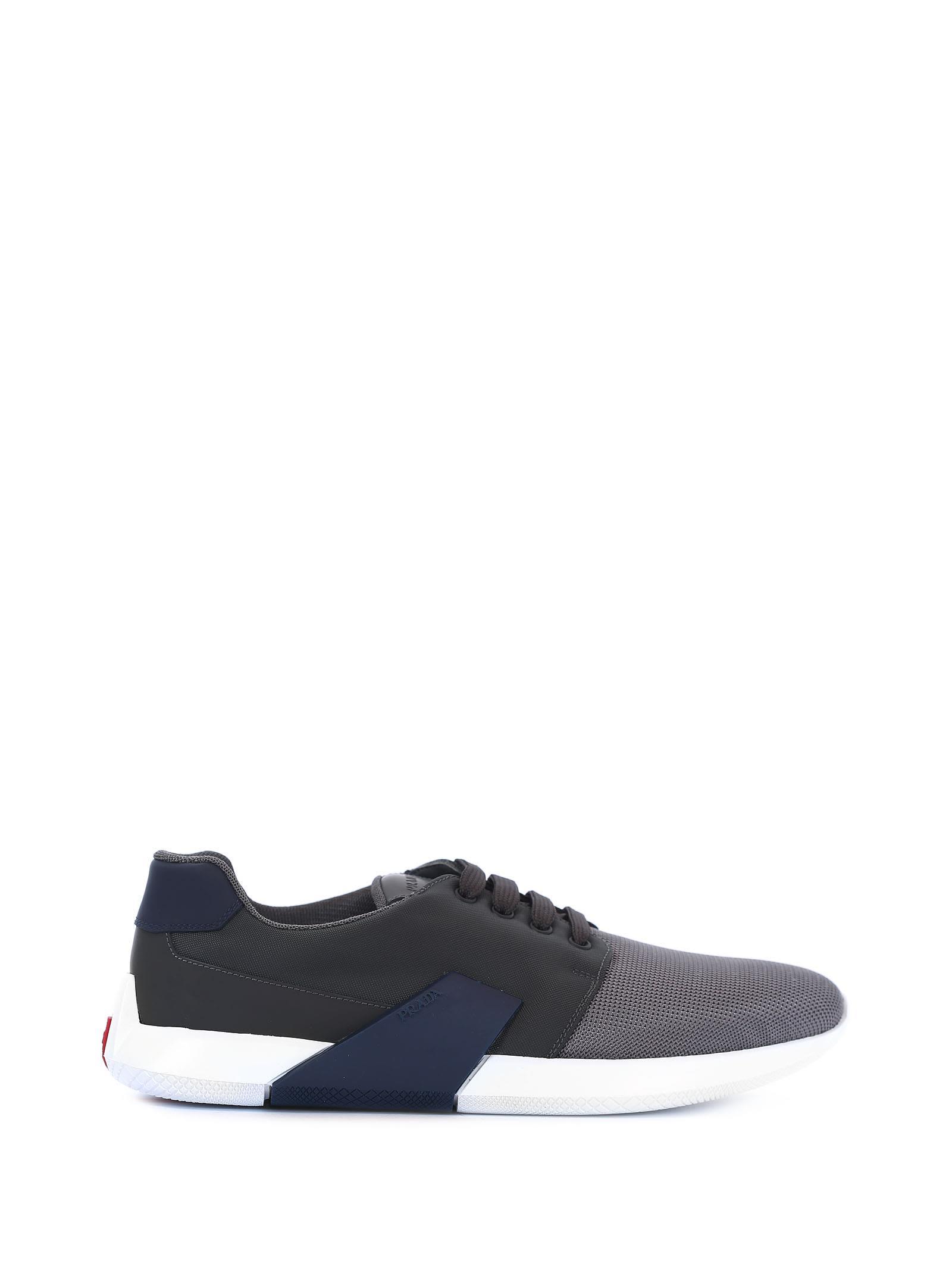 PradaLeather & Canvas Sneakers ZTNLif