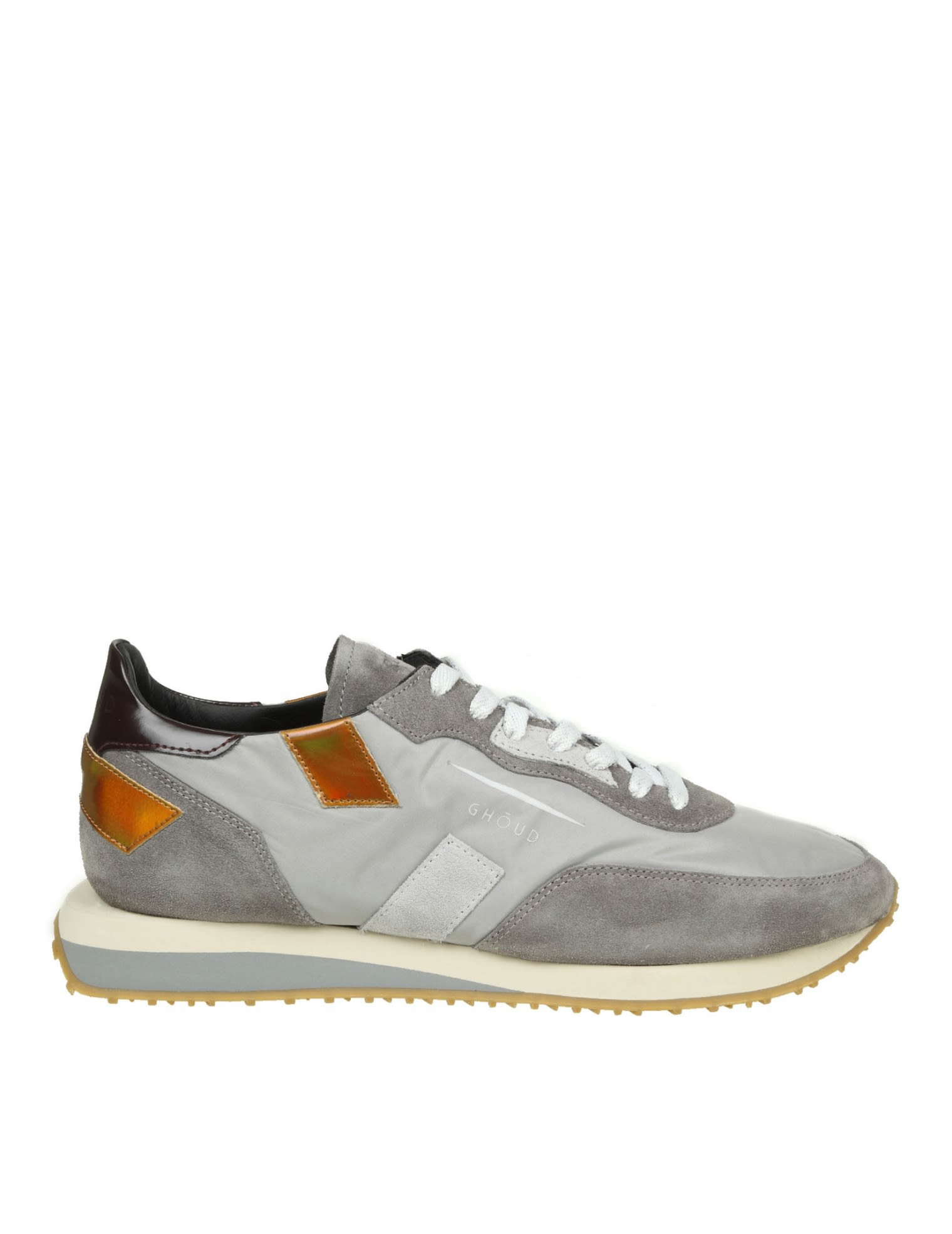 RUSH GHOUD SNEAKERS IN GRAY SUEDE AND NYLON