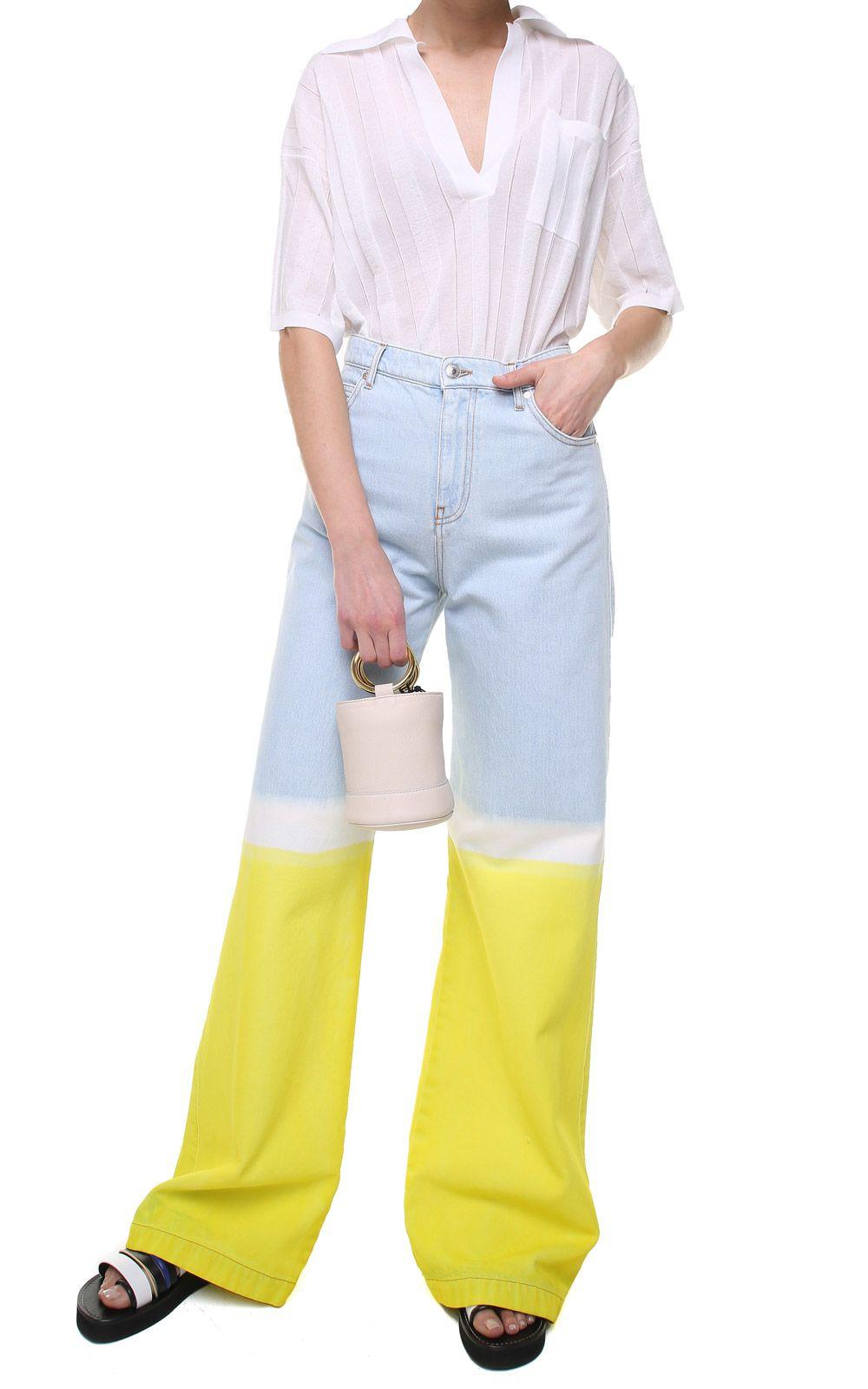 MSGM Tie-dye Cotton-denim Oversized Jeans 10535815