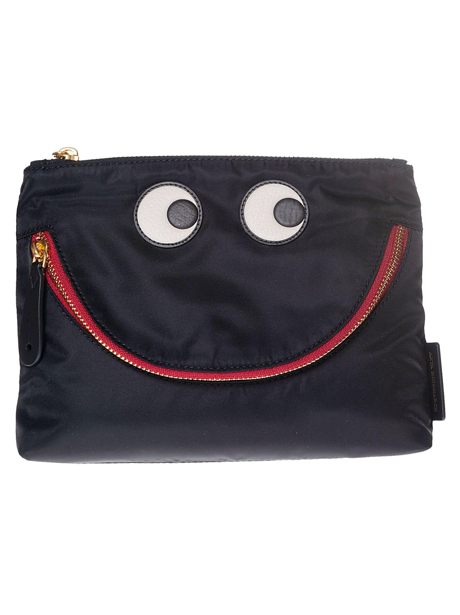 67caacaf3480 Anya Hindmarch Happy Eyes Clutch In Black | ModeSens
