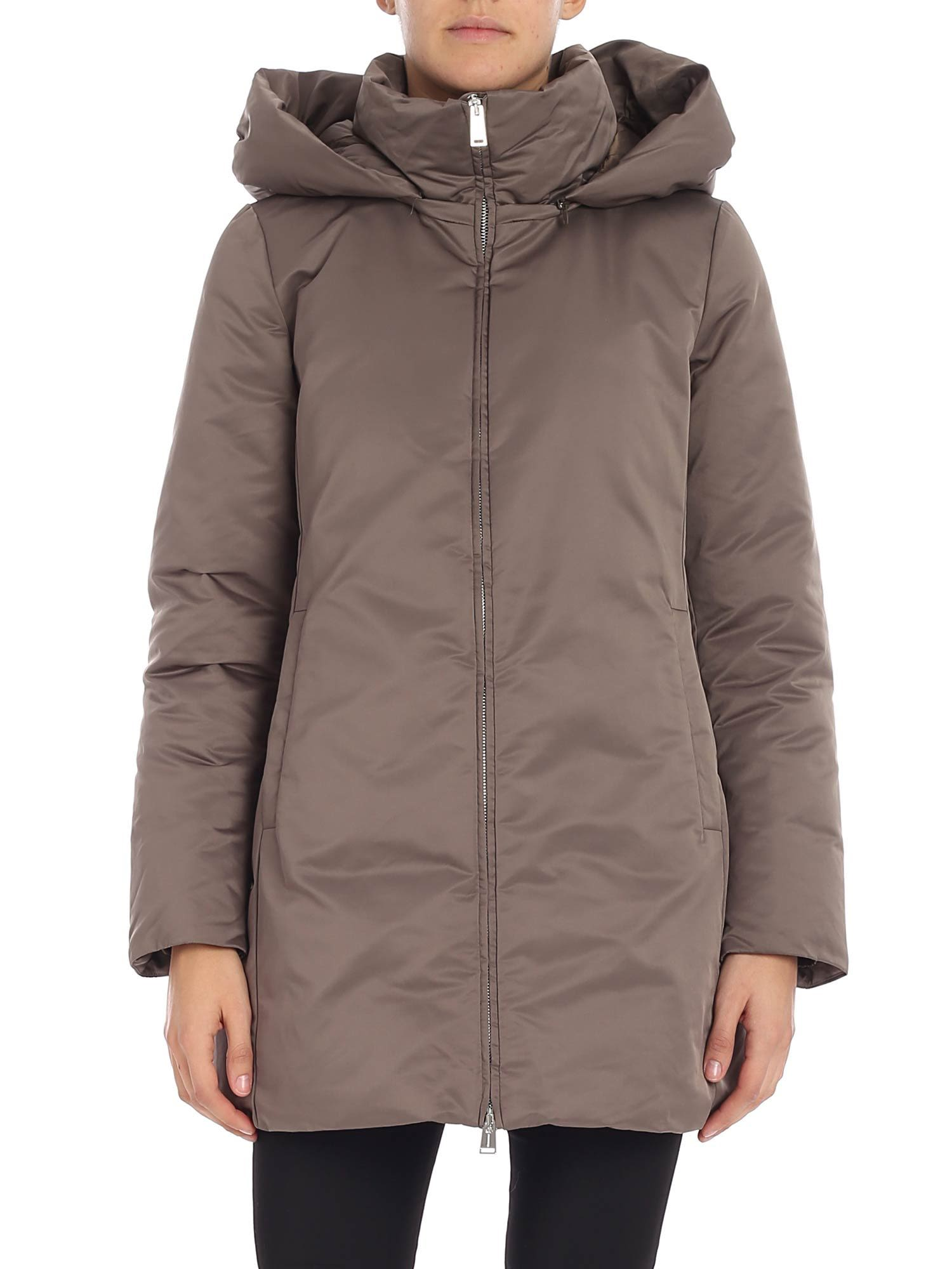 ADD Add Detachable Hood Jacket in Turtledove