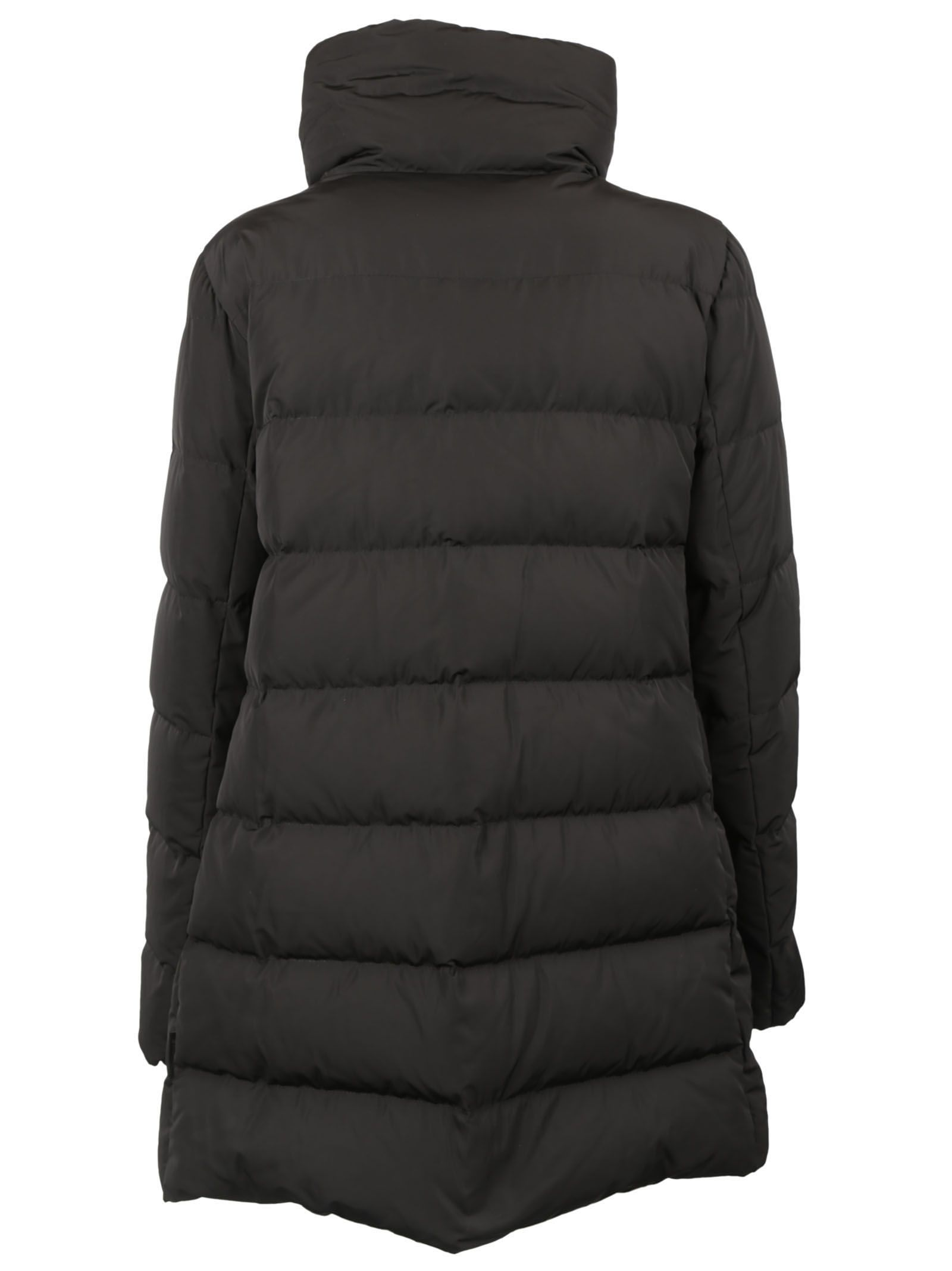 moncler black down petrea coat