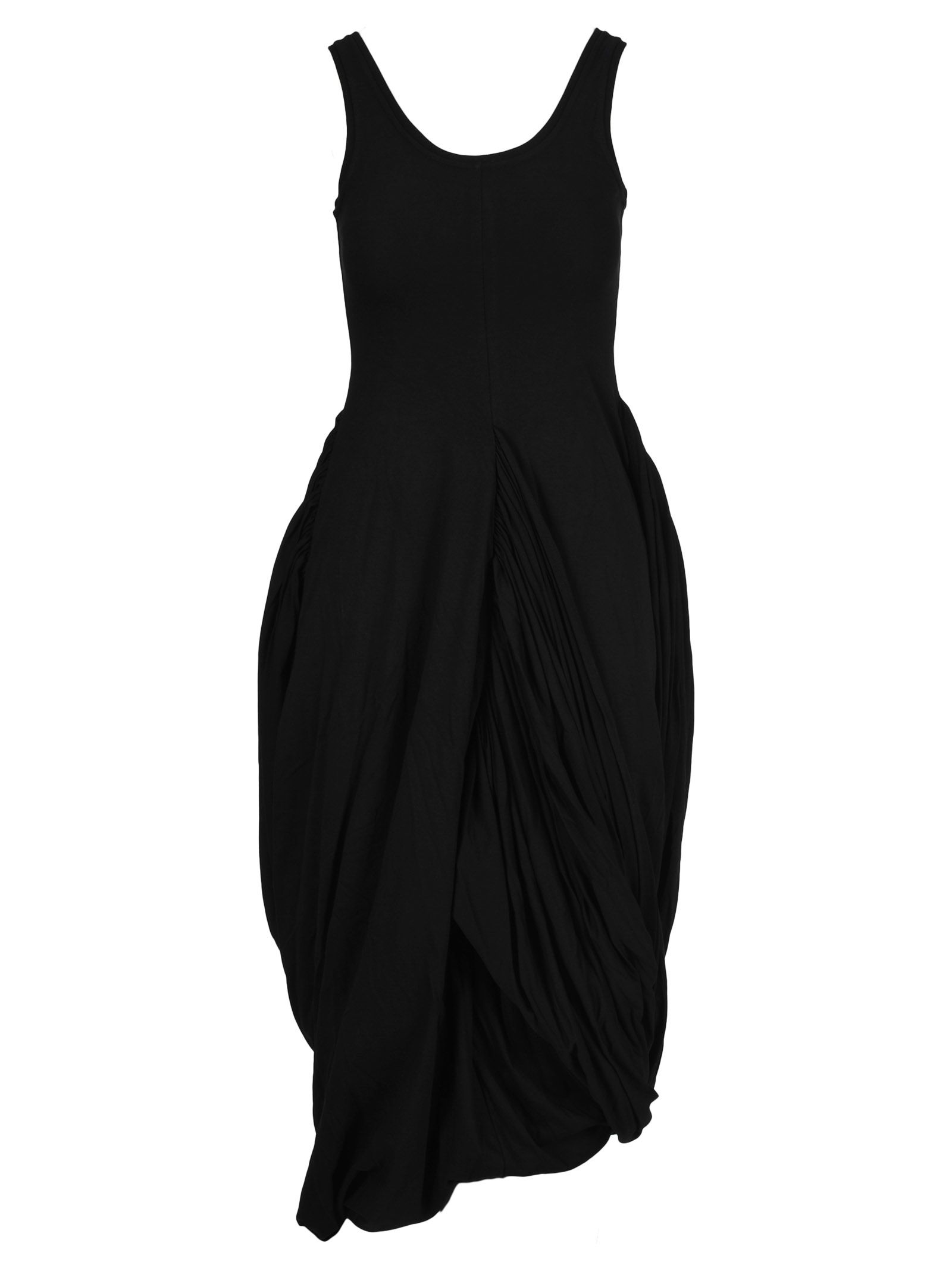 Y/Project Drapped Jersey Dress, Black