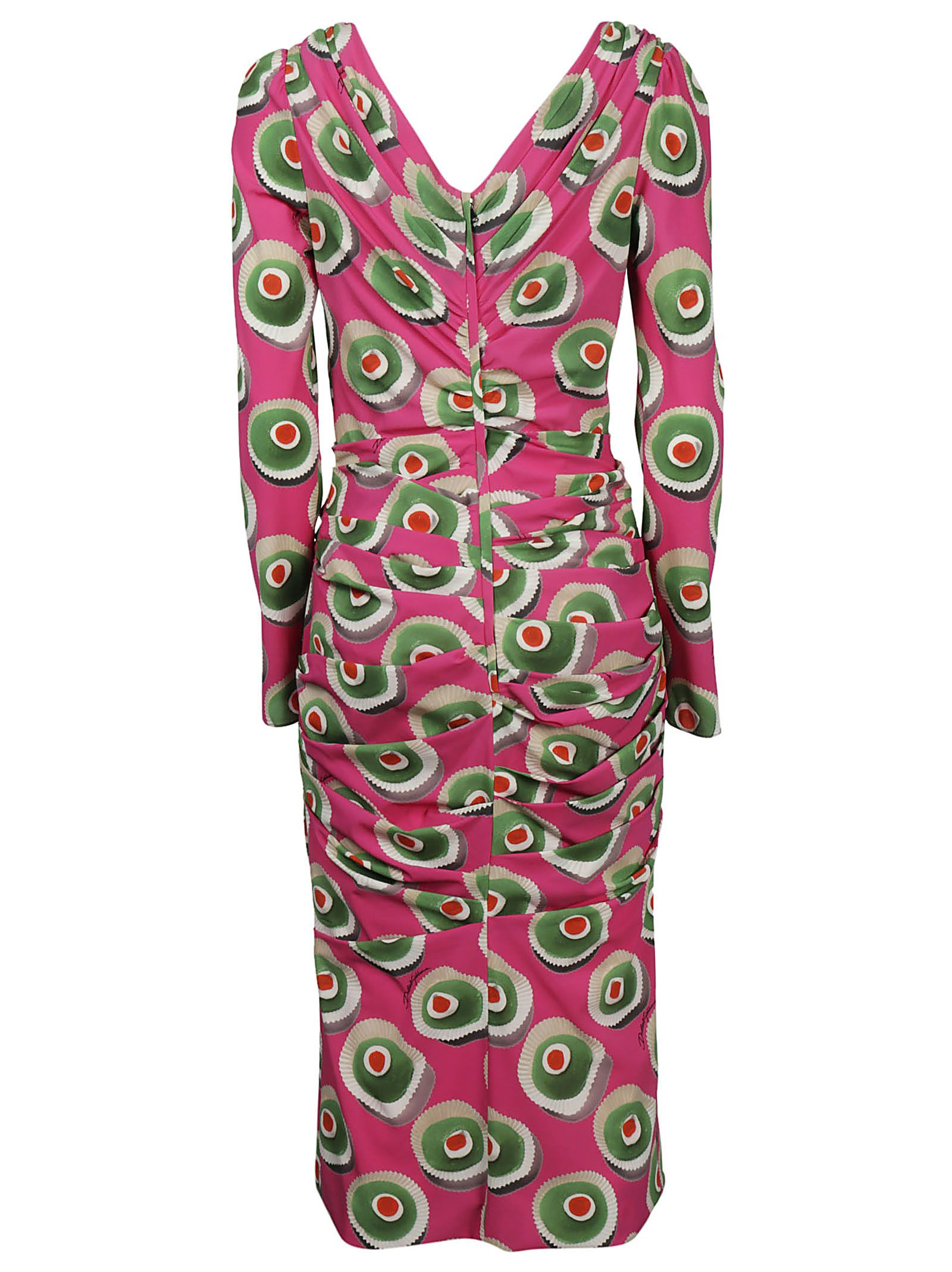 Wholesale Price Cassata print midi dress - Pink & Purple Dolce & Gabbana Cheap Explore Cheap Sale Real Shop For Online DIBXwabLFY