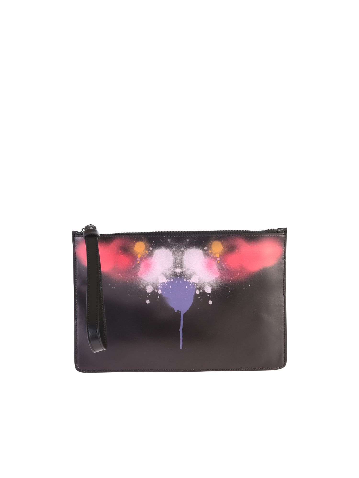 Marcelo Burlon County Of Milan BLACK ZIPPED CLUTCH