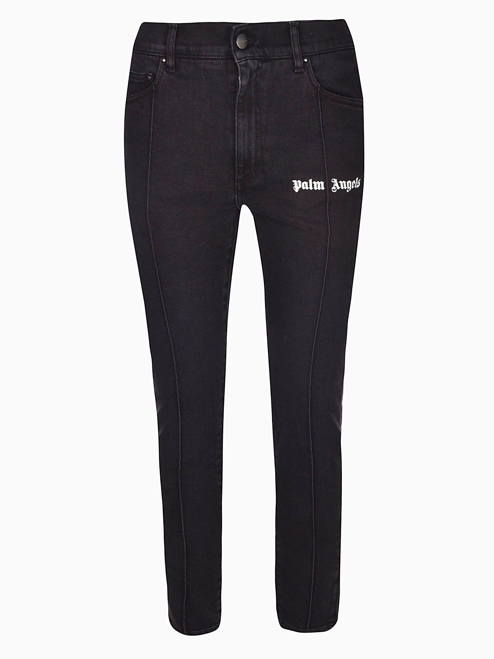 Palm Angels Printed Logo Jeans 10670494