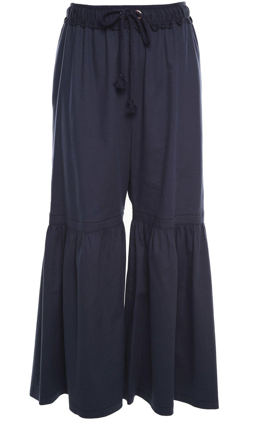Pantalons De Coton Mélange Évasée Voir Par Chlo IXuTwTq