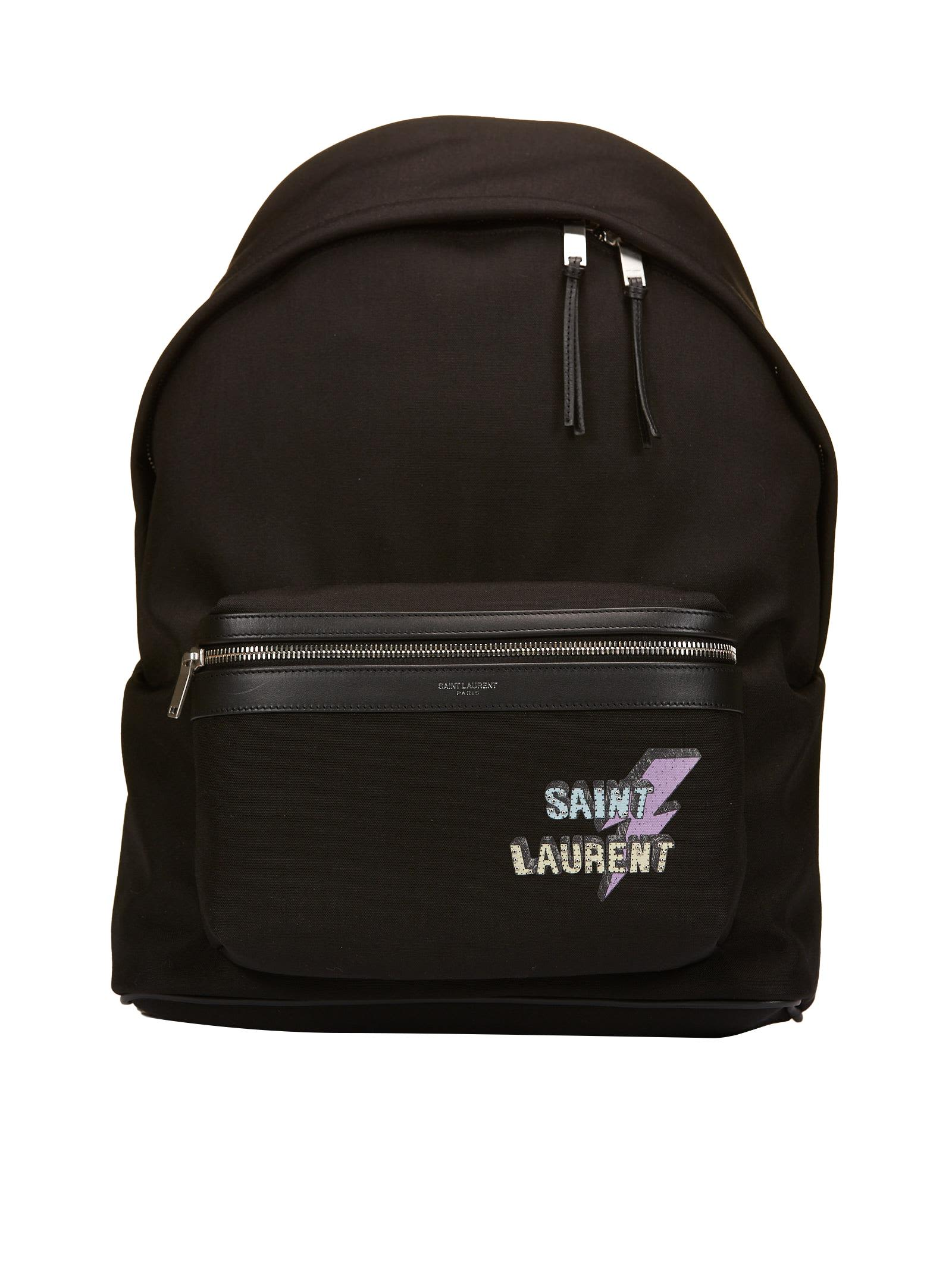 SAINT LAURENT LOGO PRINT BACKPACK