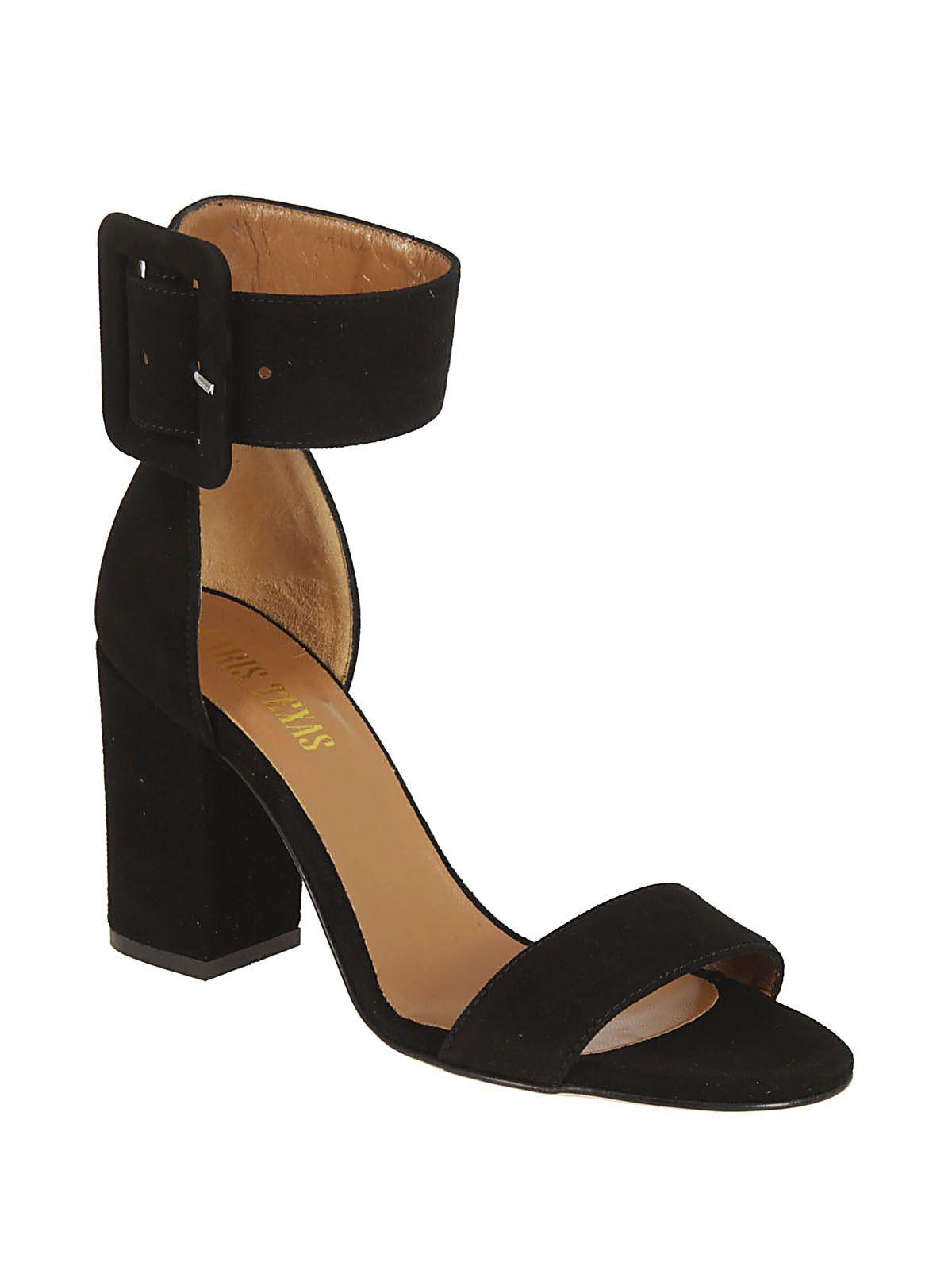 buckle ankle strap sandals - Black PARIS TEXAS JaHHBLR
