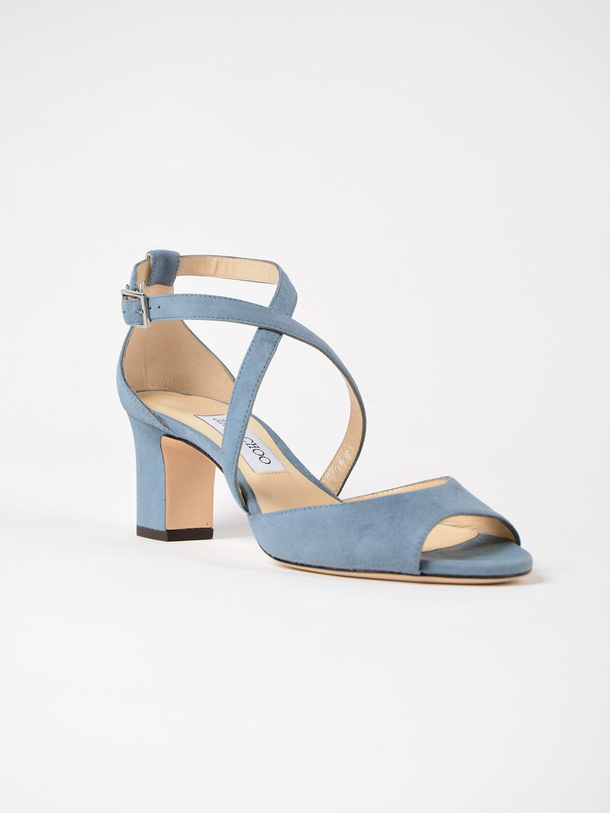 Sandals for Women On Sale, Dusk Blue, suede, 2017, 3 Jimmy Choo London