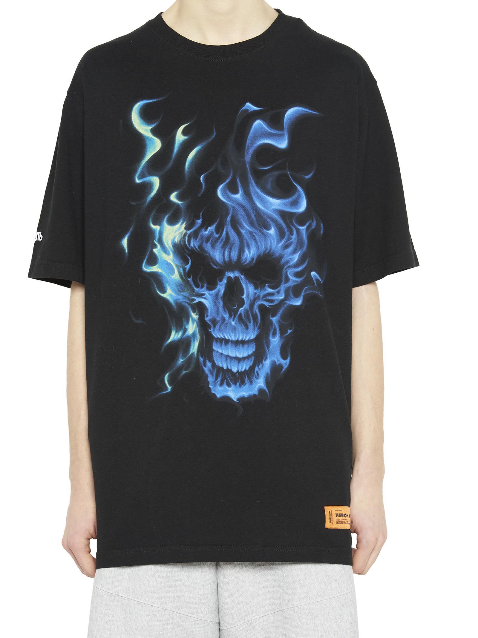 de Heron Preston en Camiseta negro cráneo de SCwdpxfq