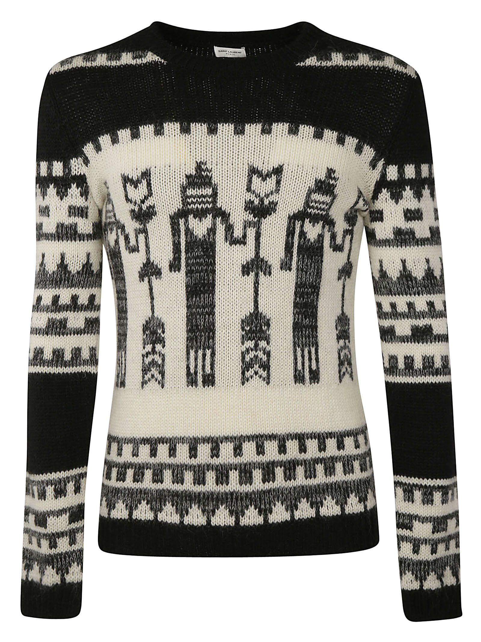 SAINT LAURENT TOTEM INTARSIA SWEATER