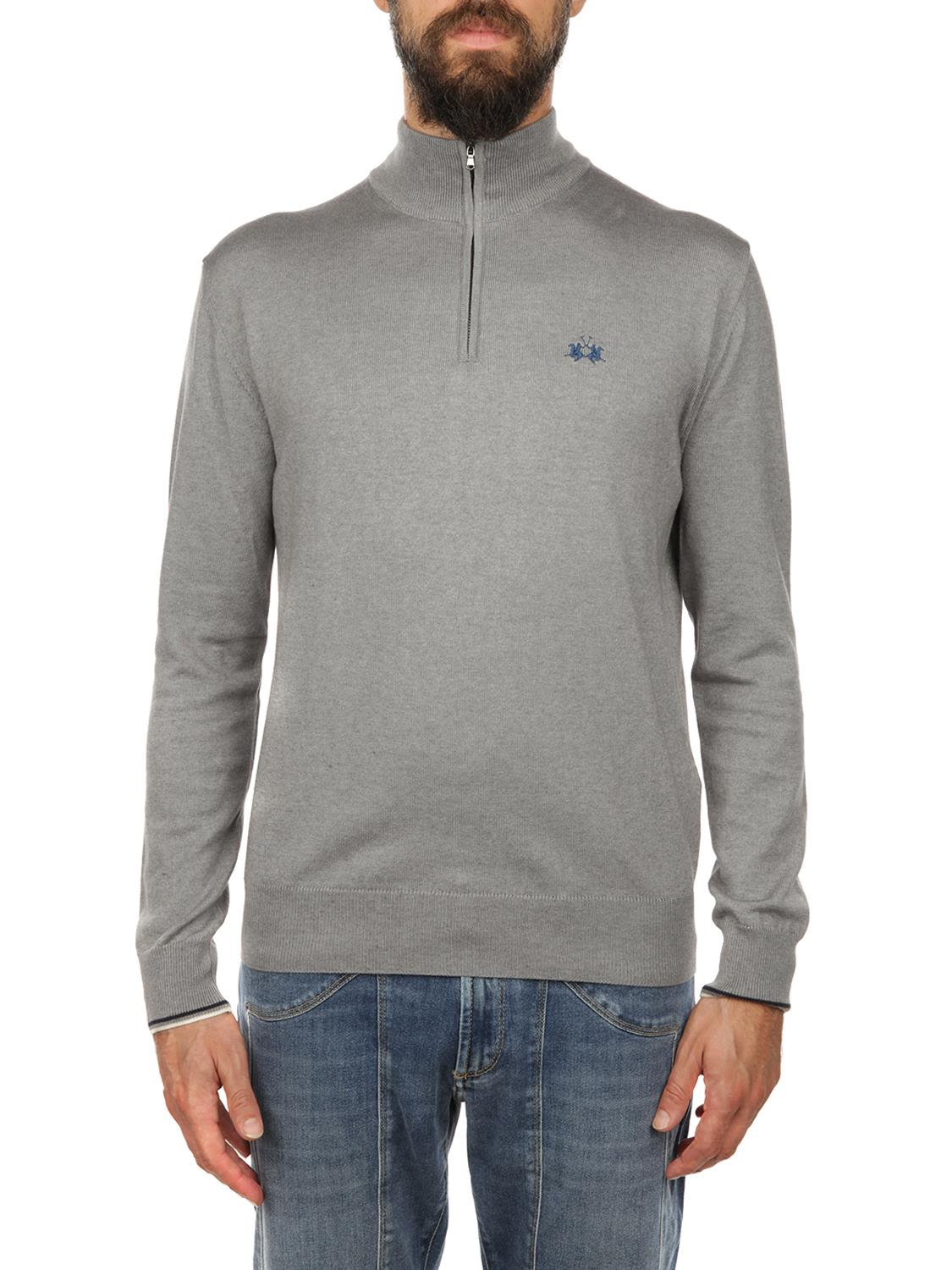 La Martina Zip Fastening Sweater