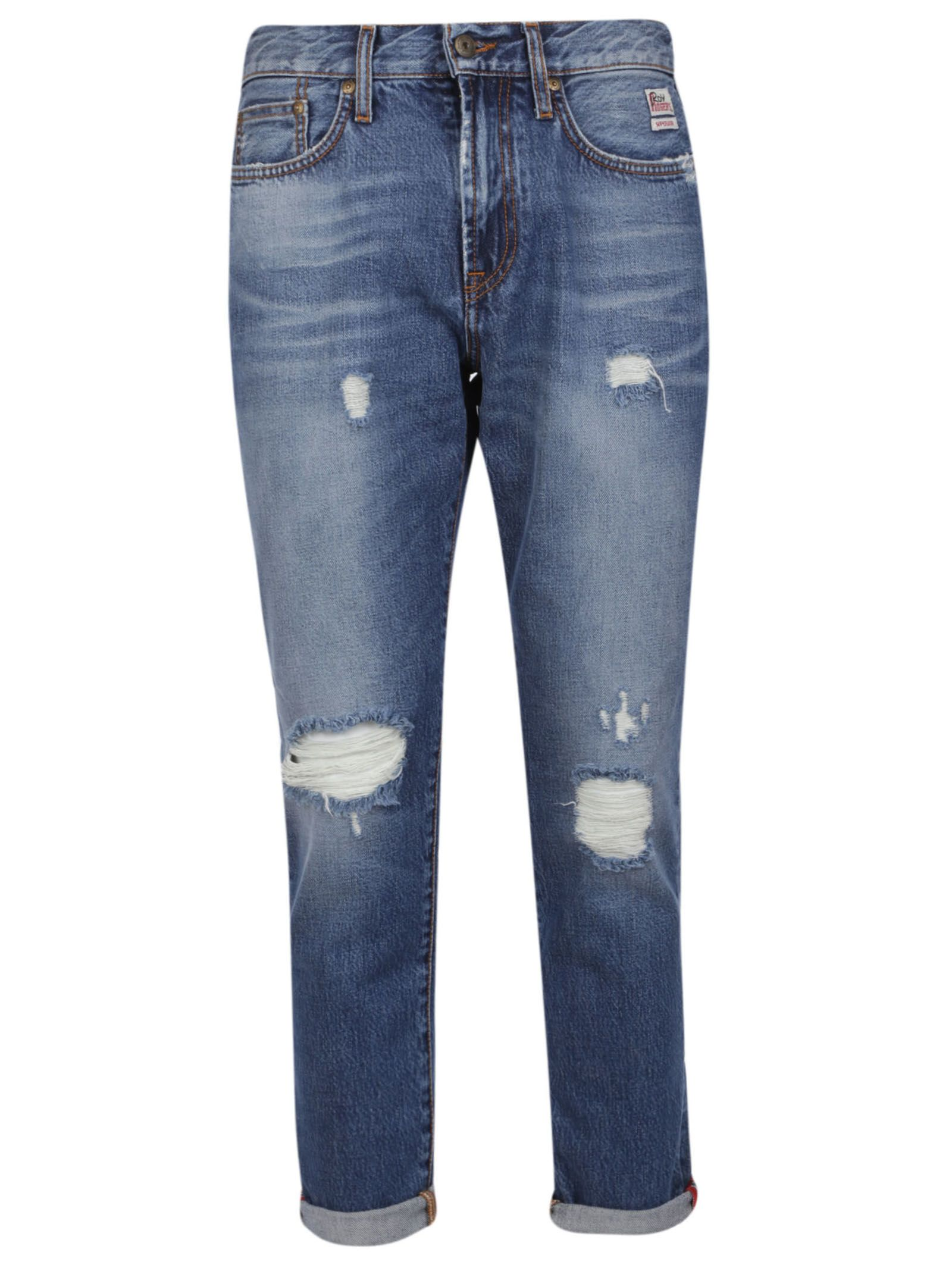 ROY ROGERS Distressed Jeans in Denim