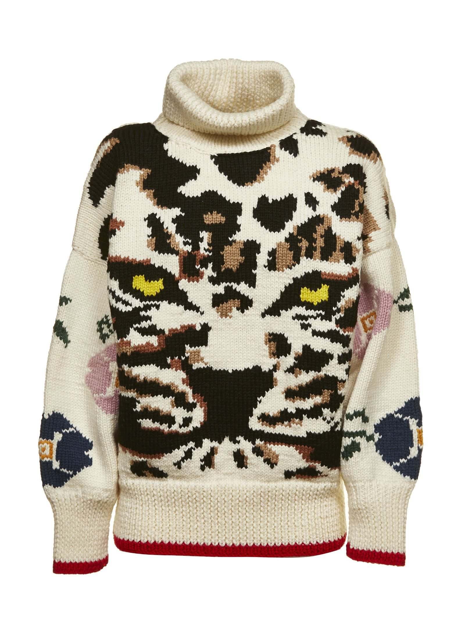 SONIA BY SONIA RYKIEL Sonia By Sonia Rykiel Tiger Knit Jumper in Panna Multicolor