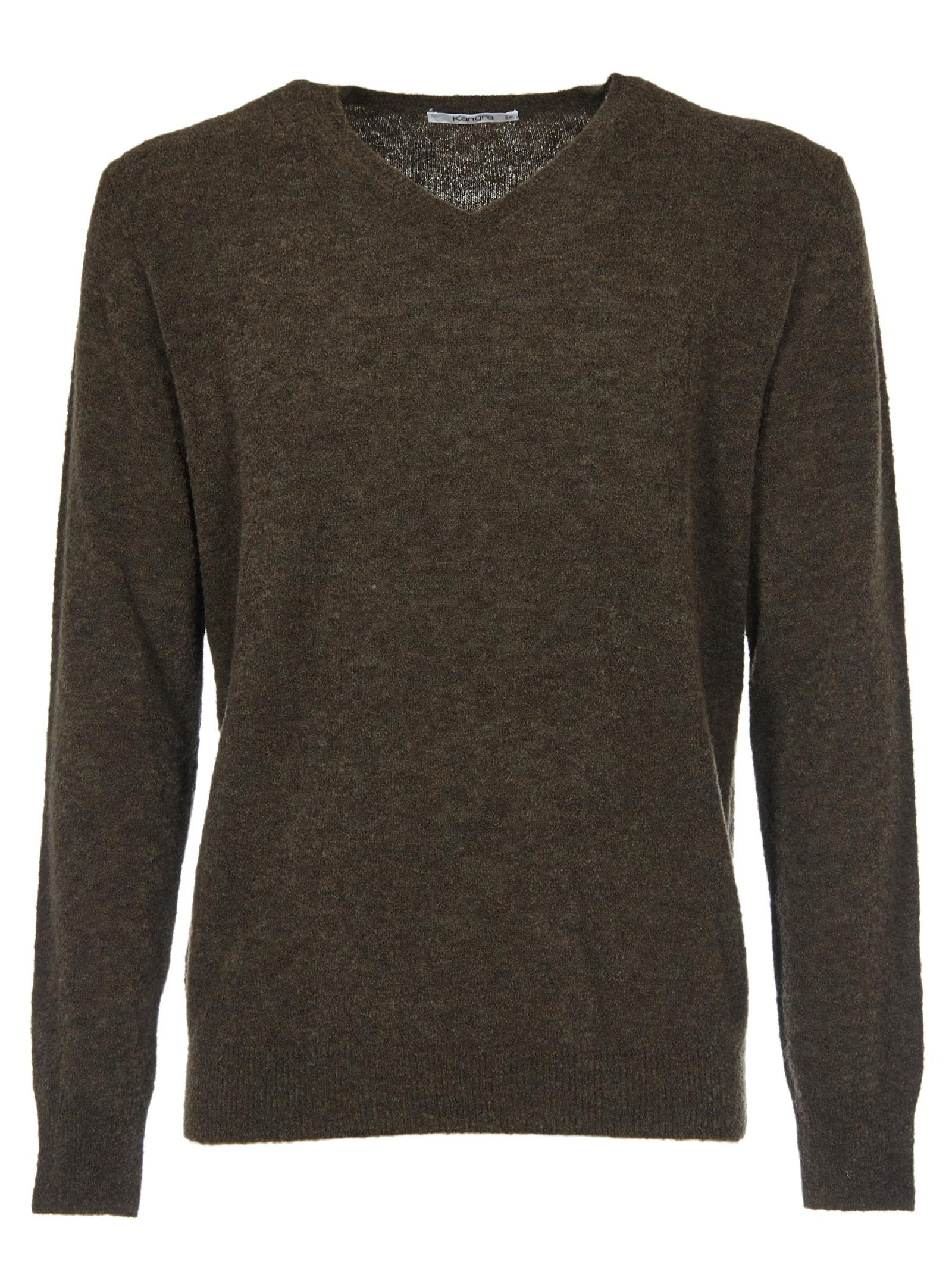 KANGRA V-Neck Sweater in Military