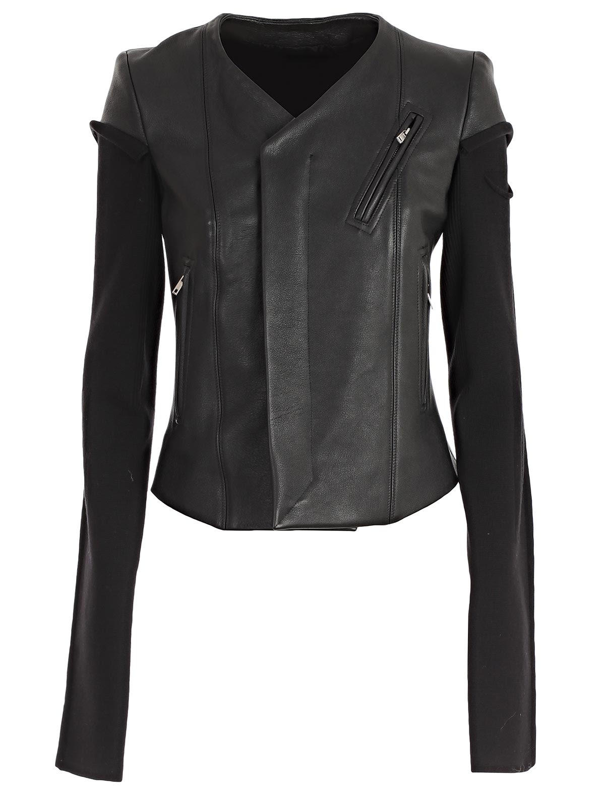 Rick Owens V-neck Biker Jacket
