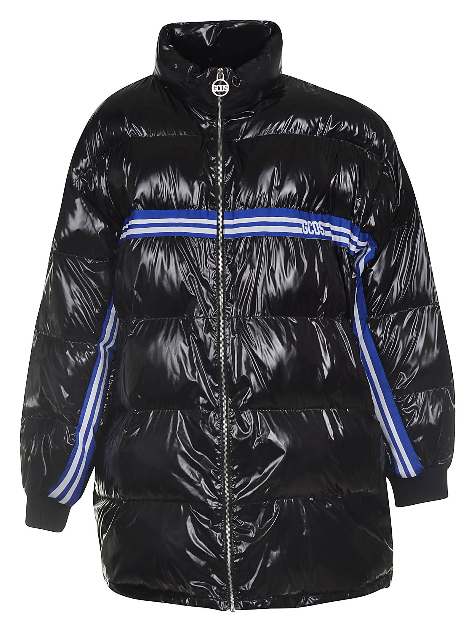 GCDS Gcds Logo Stripe Padded Coat - Black