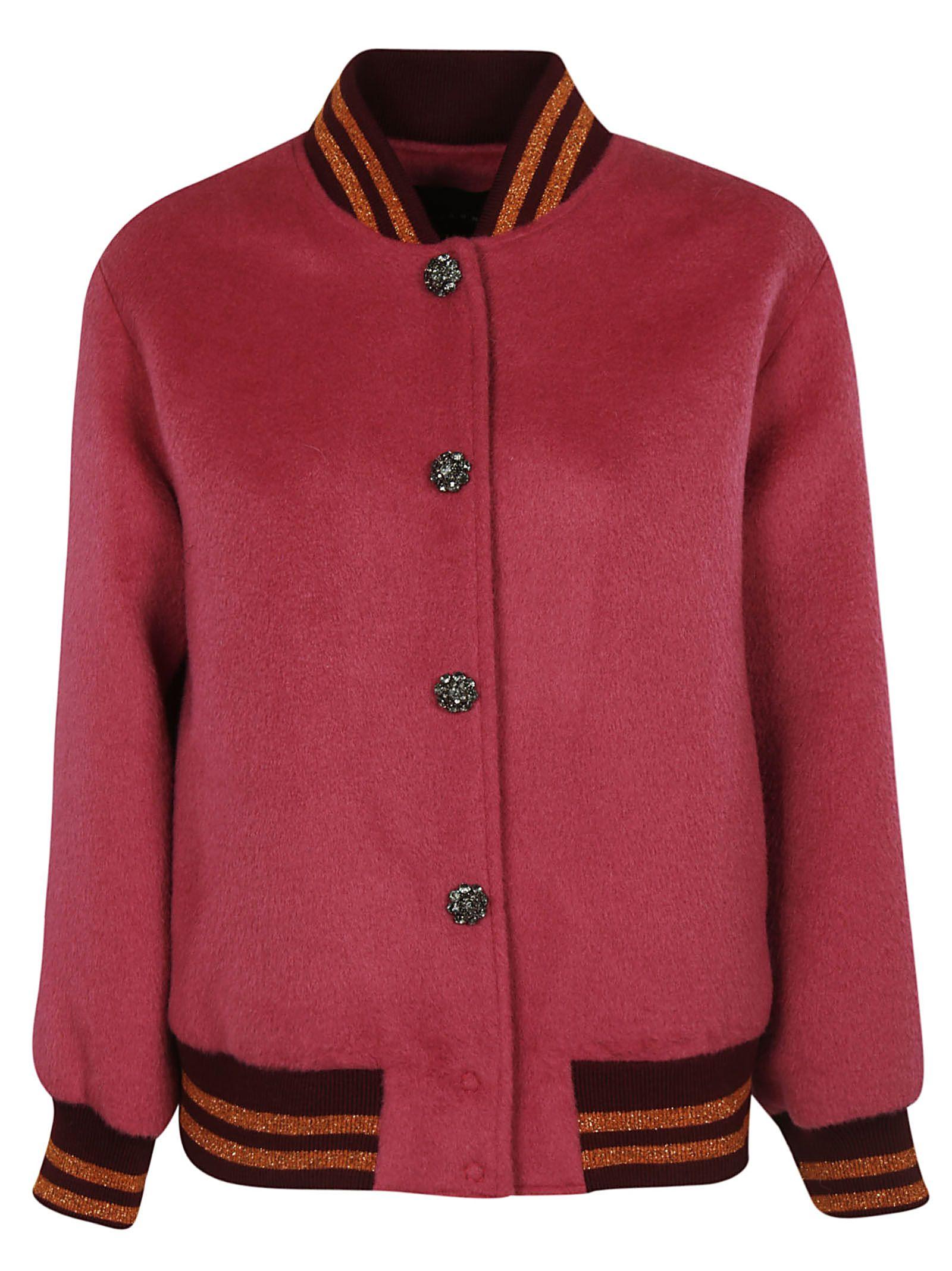 TARA JARMON Varsity Jacket in Azalee
