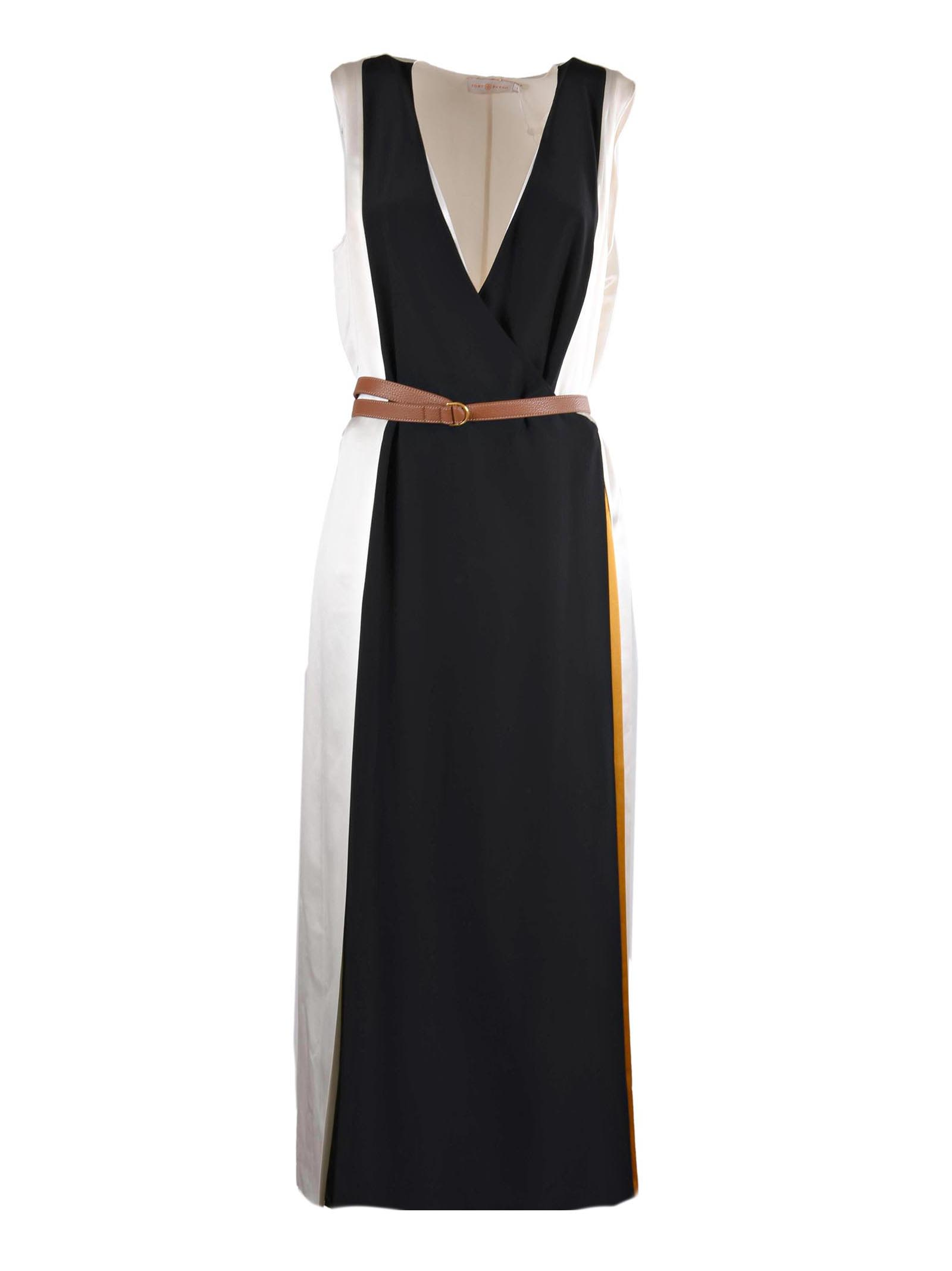 Dara wool-knit belted dress Tory Burch