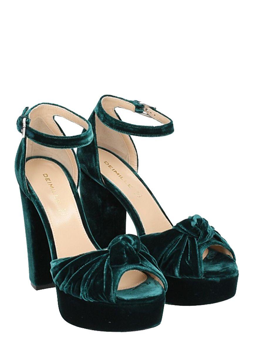 Deimille Nouée Sandales Plate-forme - Vert 6rwEo6NJVB