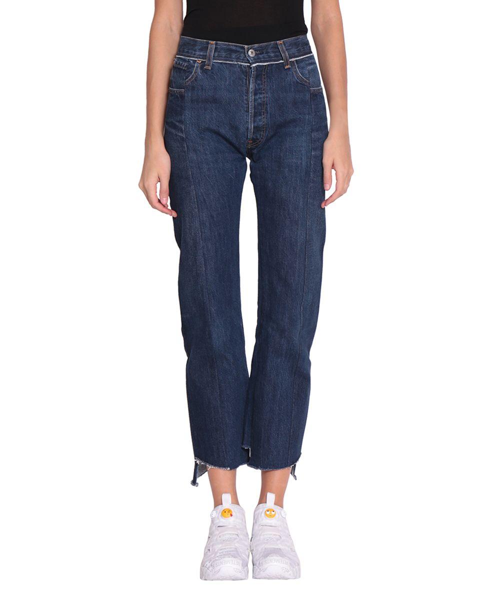 VETEMENTS Reworked Push-up Cotton Denim Jeans 10507400