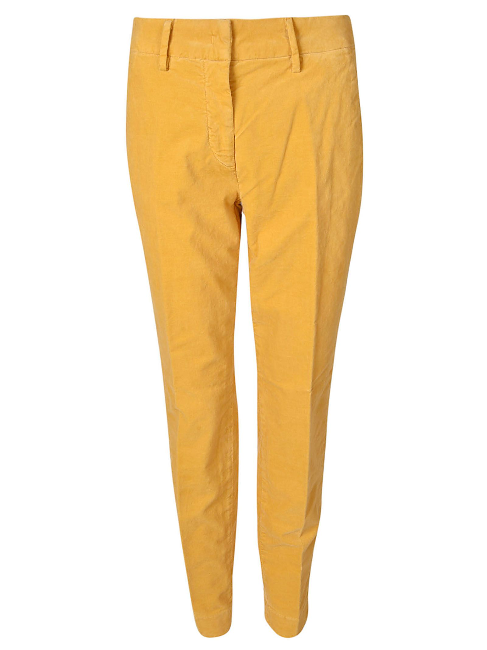 MASON'S Chino Trousers in Yellow