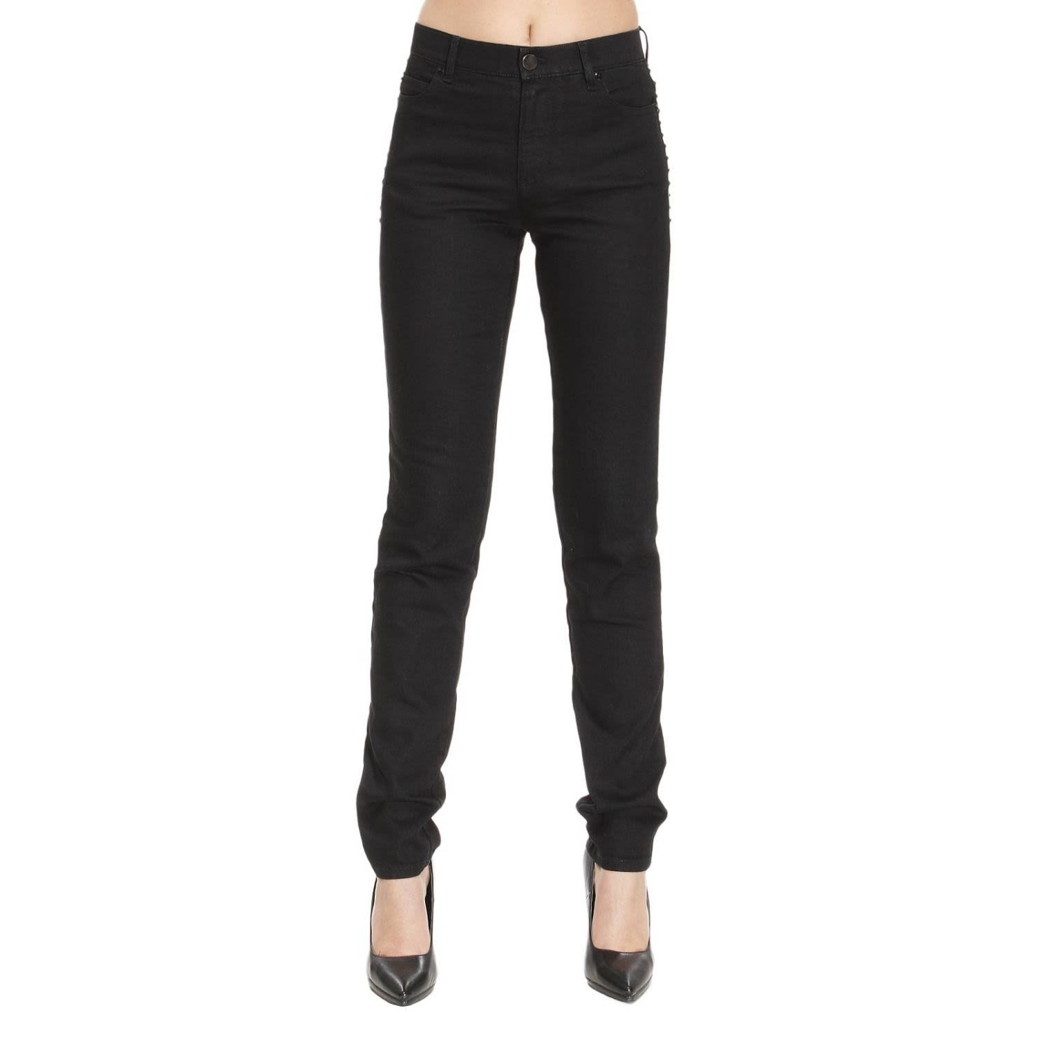 Jeans Skinny Fit Trousers With Micro Side Studs 7728750