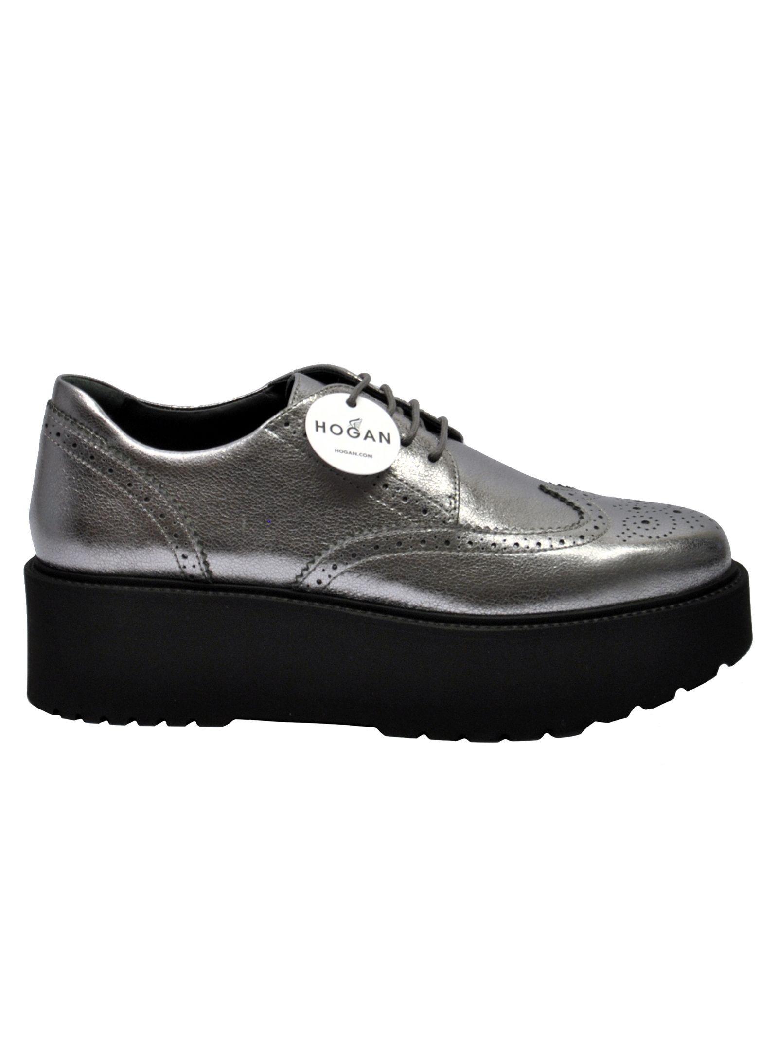 Route Brogues Platform Lace-Up Shoes in Piombo