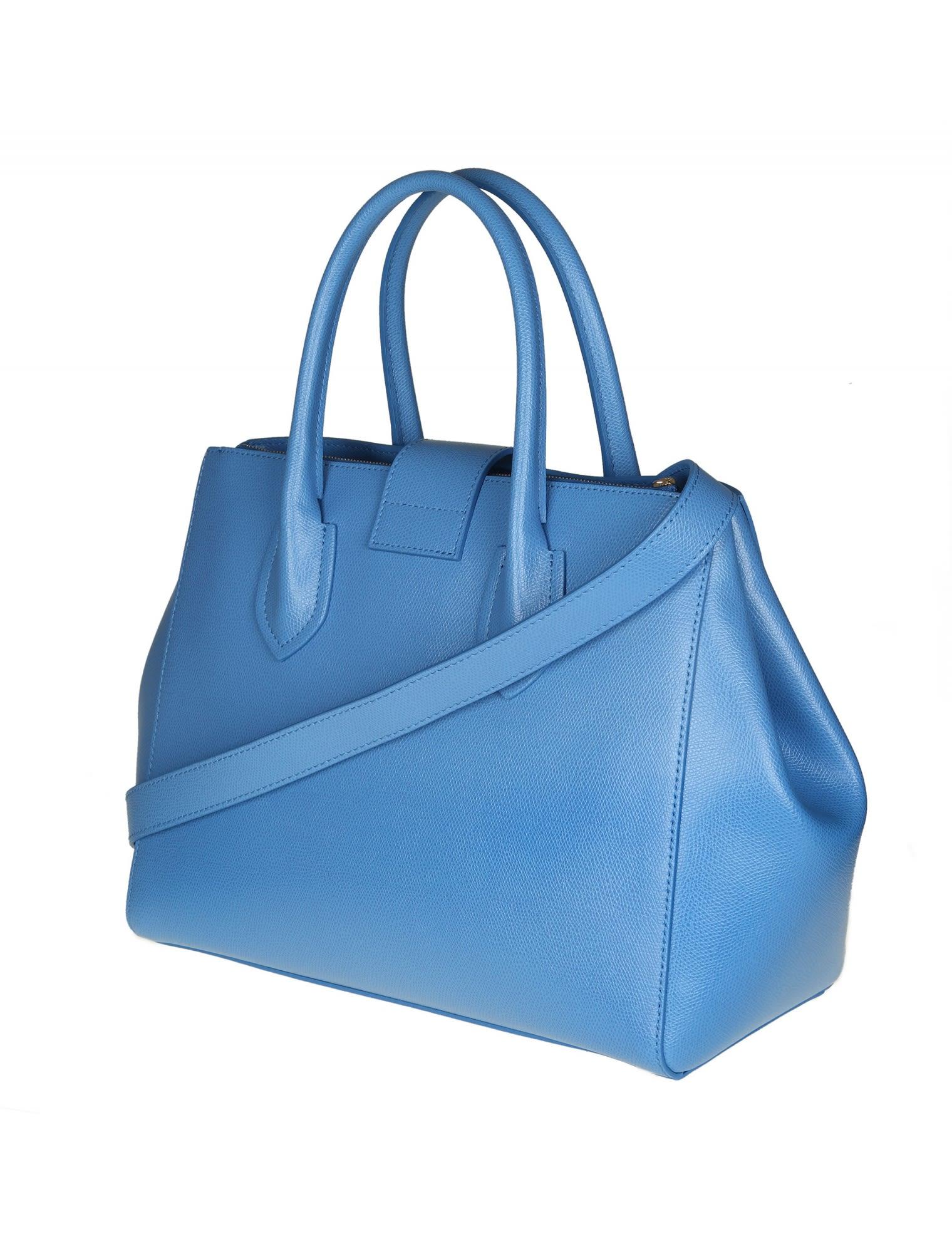 Furla Metropolis M sky blue leather bag OZweZAM