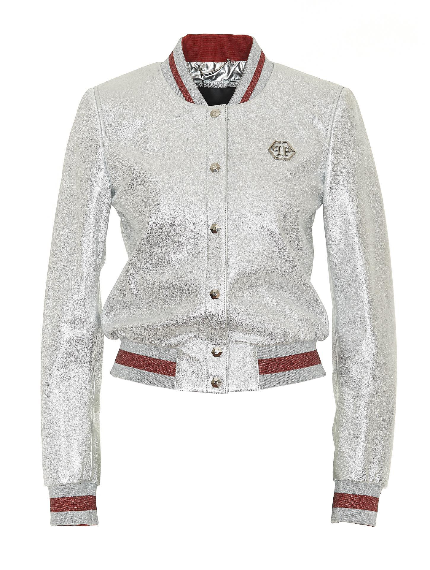 Philipp Plein Ivory bomber jacket Fake Cheap Price Free Shipping Extremely Outlet Order Discount Wide Range Of Outlet Locations Online rHjjH9g