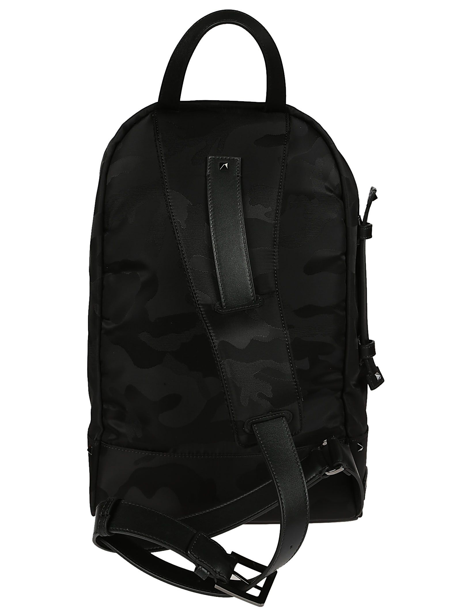 Valentino Black camouflage one-shoulder backpack k3CYh8C3