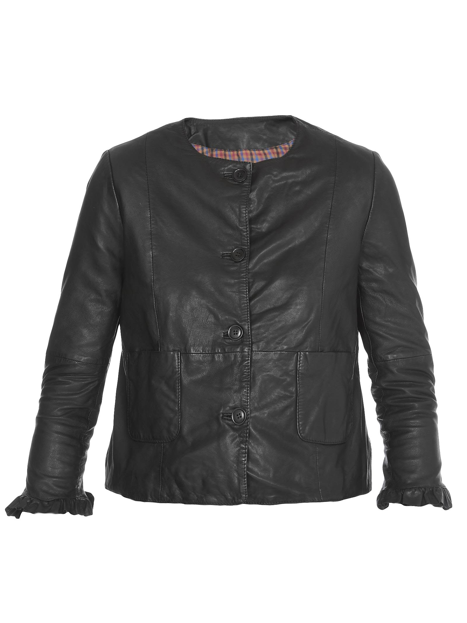 BULLY Chanel Leather Jacket in Black