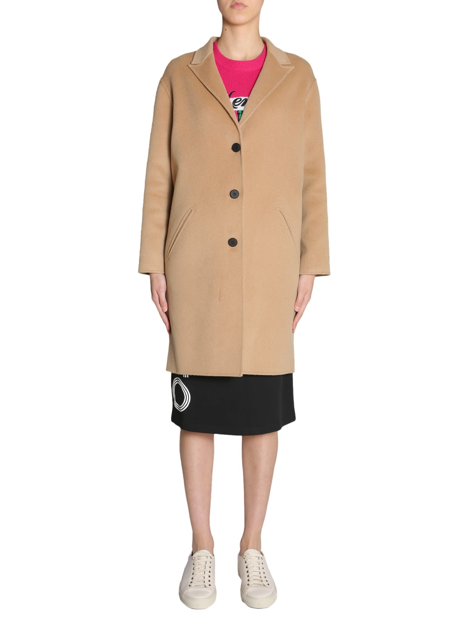 Wool And Cashmere Coat, Beige