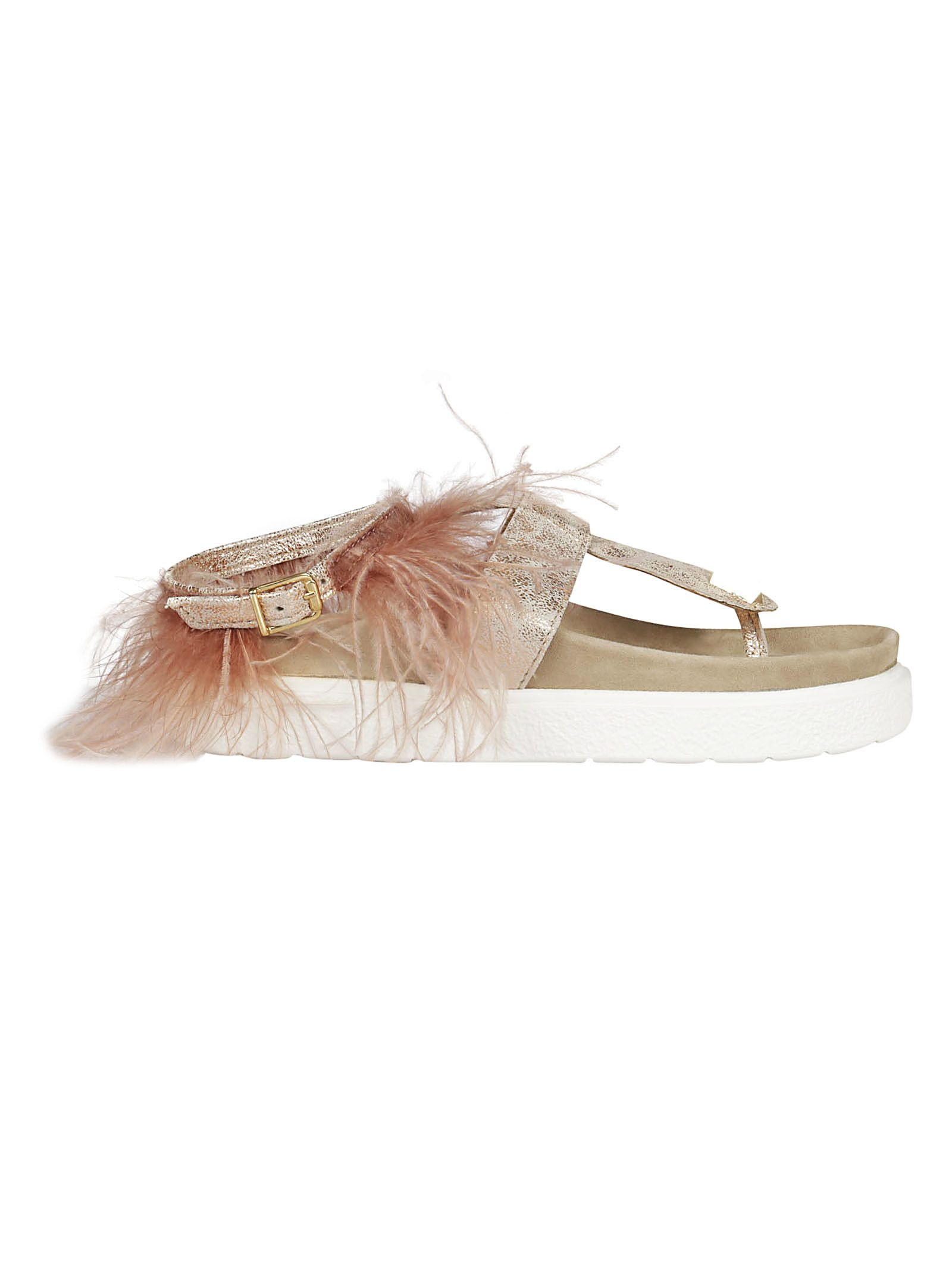feather embellished sandals - Pink & Purple INUIKII From China Cheap Sale Very Cheap Cheap Fashion Style zjfGVKq7b