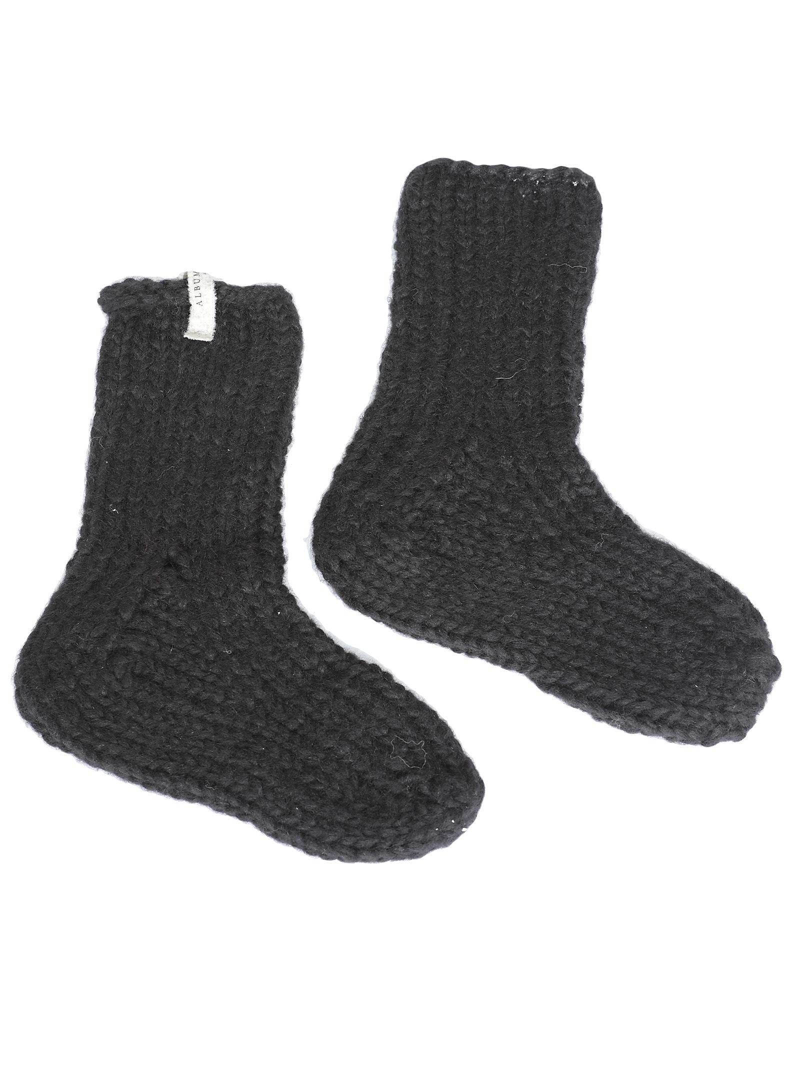 ALBUM DI FAMIGLIA Wool Socks in Black