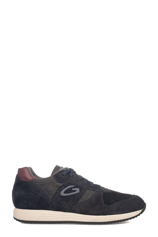 ALBERTO GUARDIANI Bordeaux/Blue Sport Man Fresno Suede Sneakers in Bordeaux - Blue