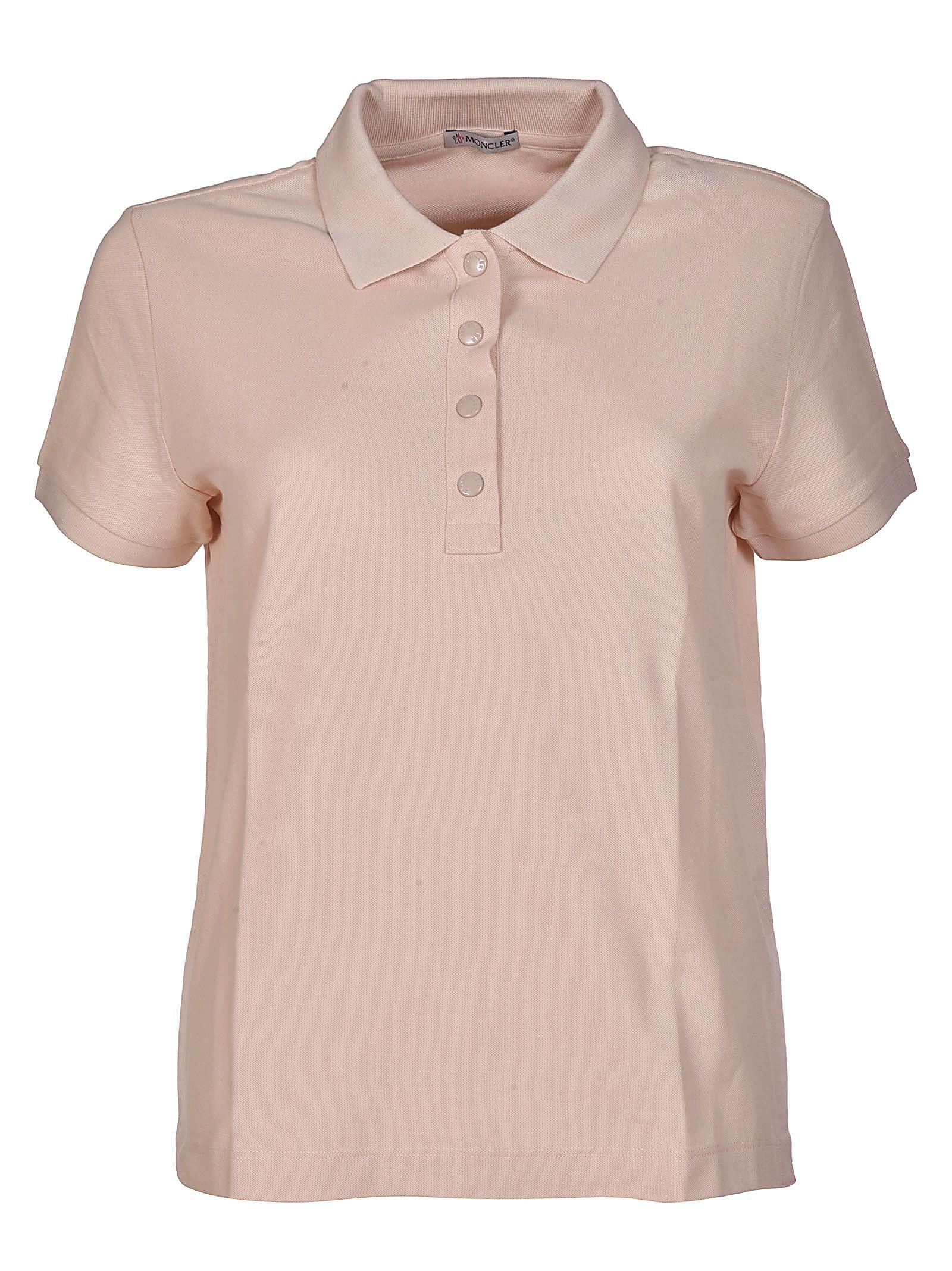 pink moncler polo