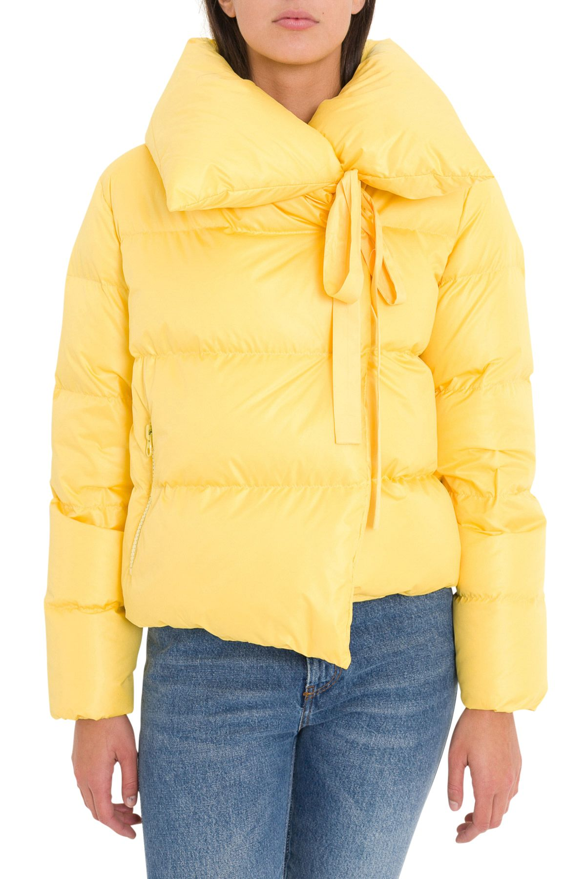 BACON CLOTHING Down Jacket With Wide Neck in Giallo