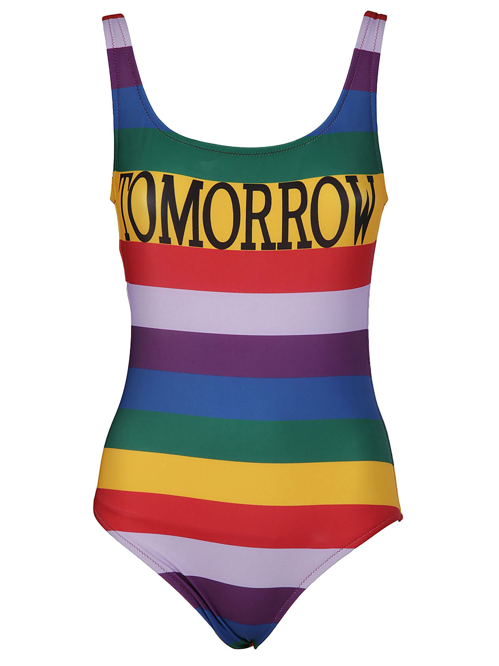 Alberta Ferretti Striped Swimsuit