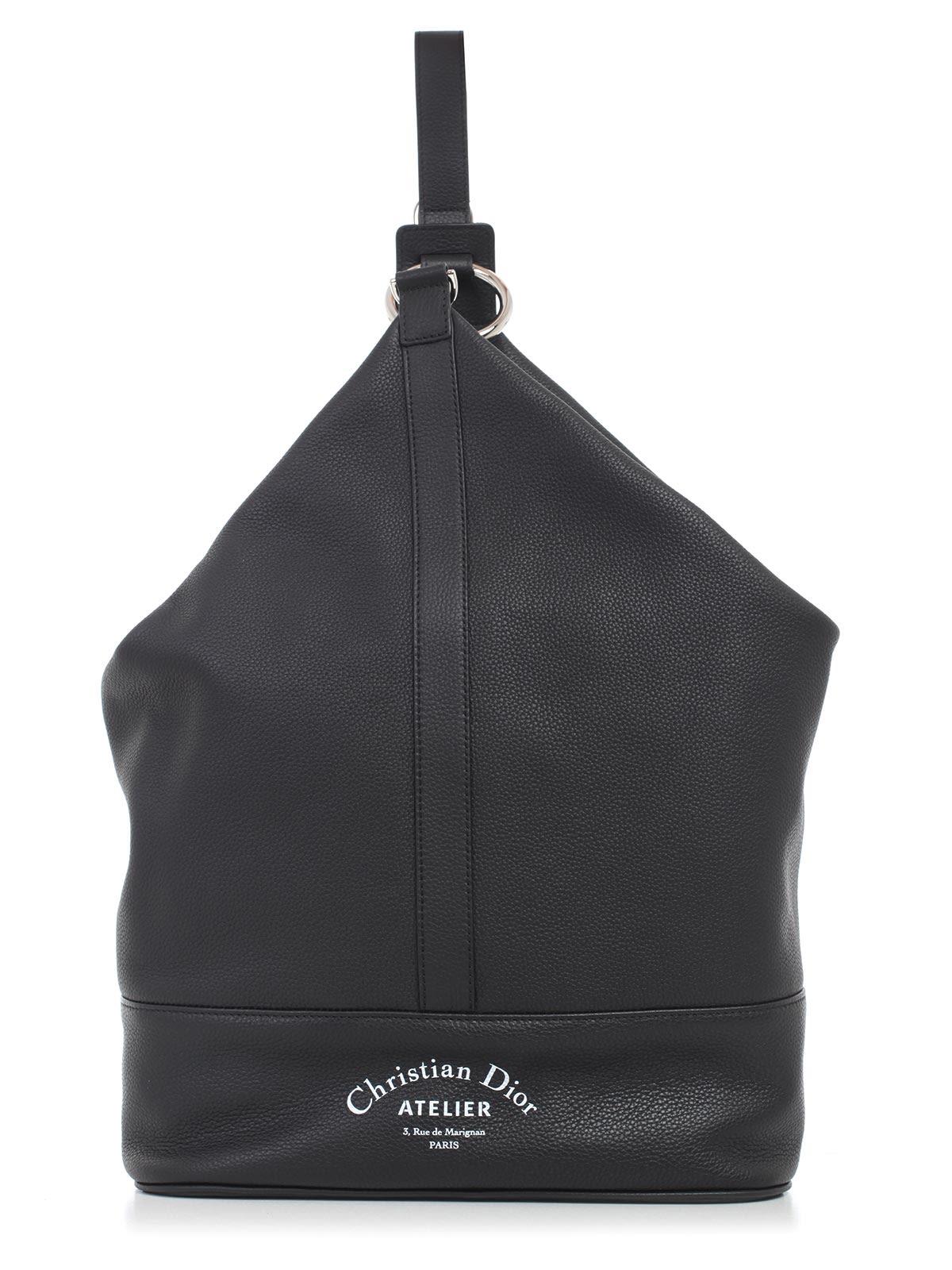 DIOR HOMME Logo Shoulder Bag, H03E Black Multicolor